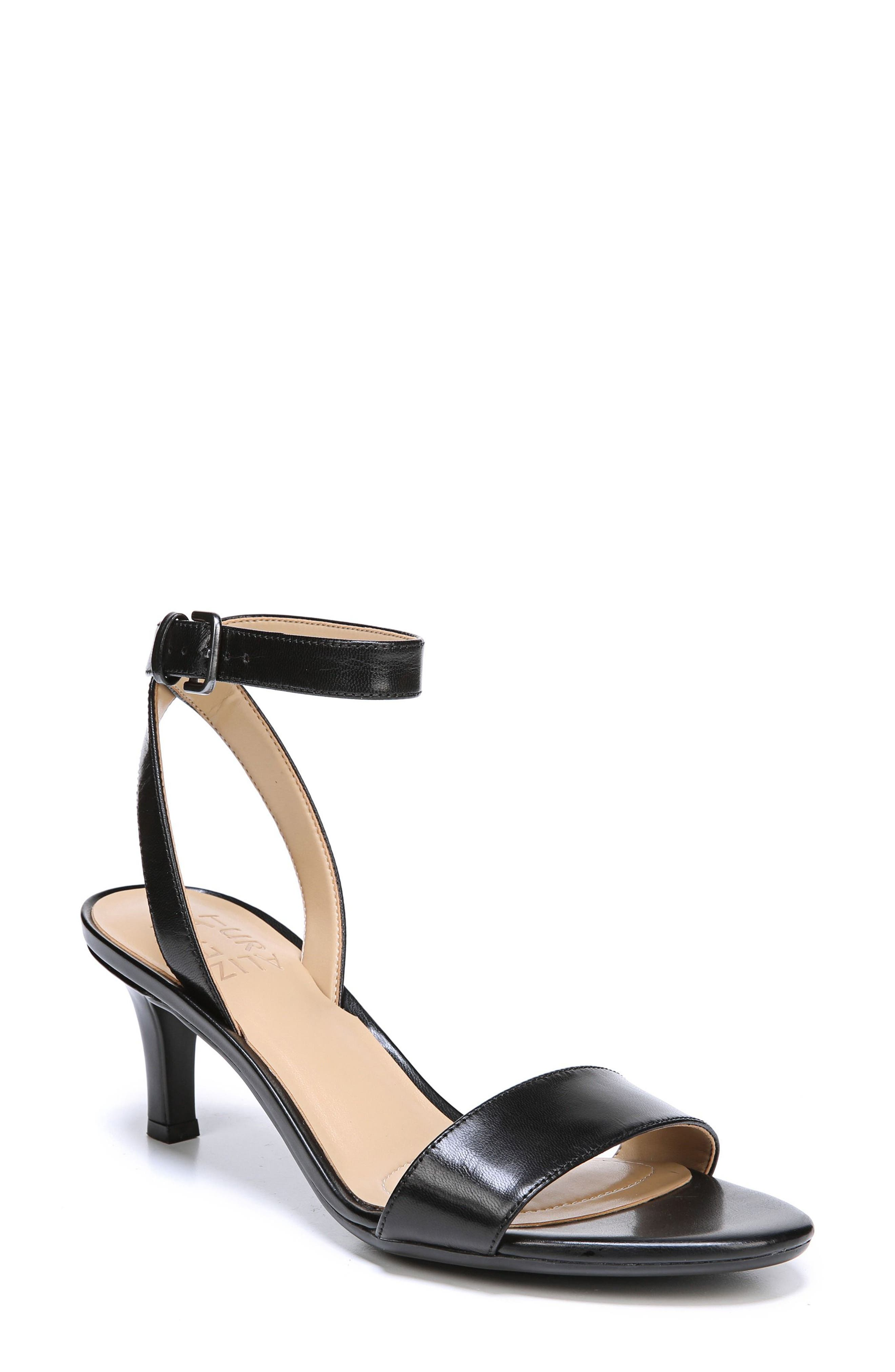 Tinda Sandal,                             Main thumbnail 1, color,                             BLACK LEATHER