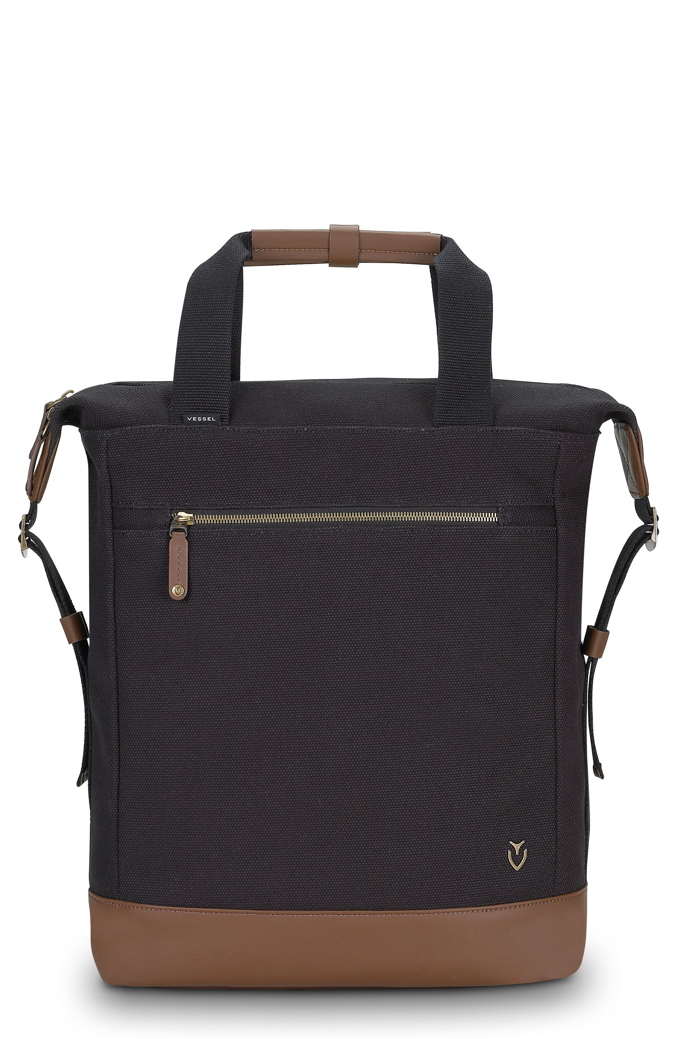 Refined Tote Backpack,                         Main,                         color, 001