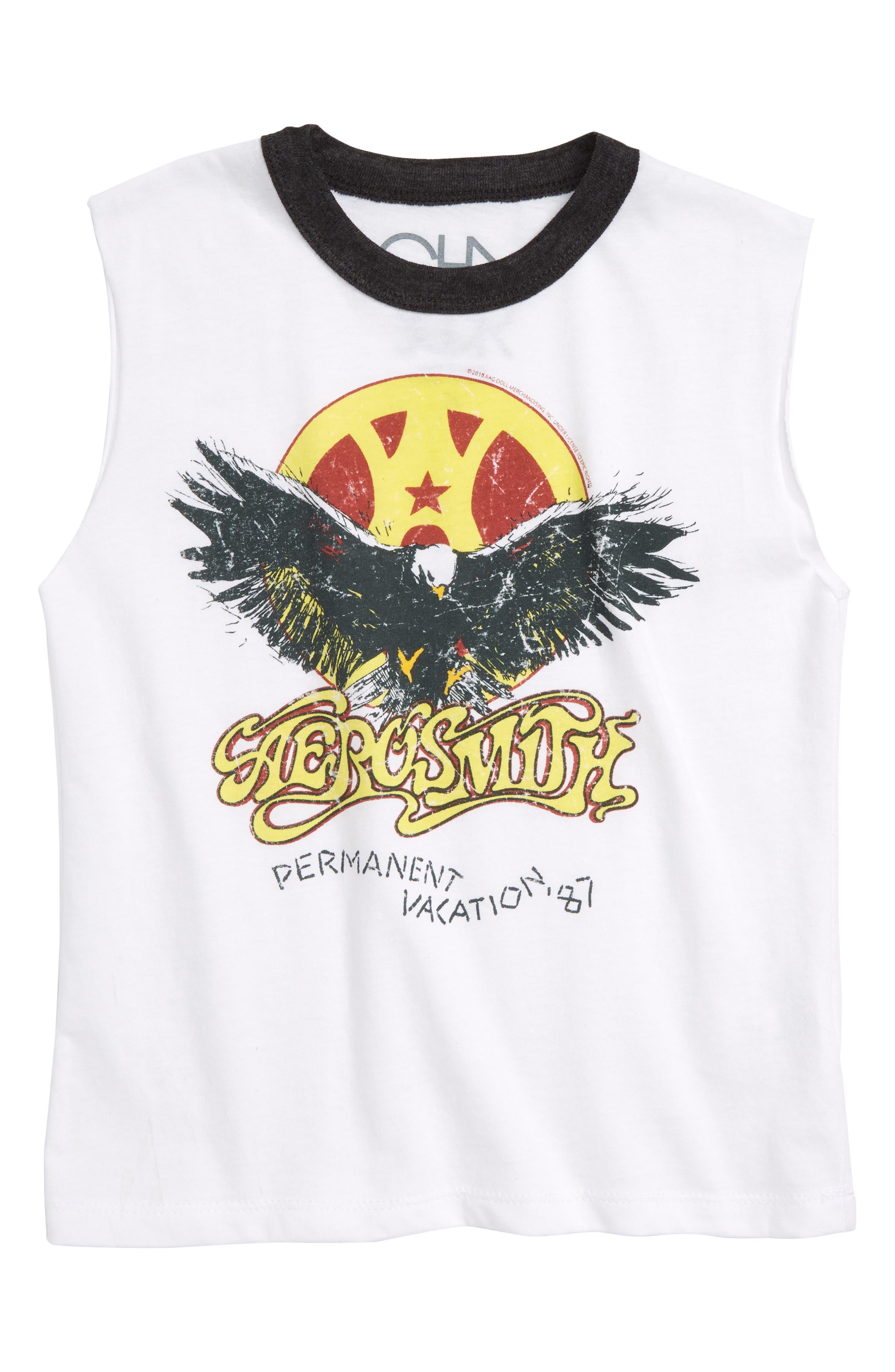 Aerosmith Permanent Vacation Sleeveless T-Shirt,                         Main,                         color, 100