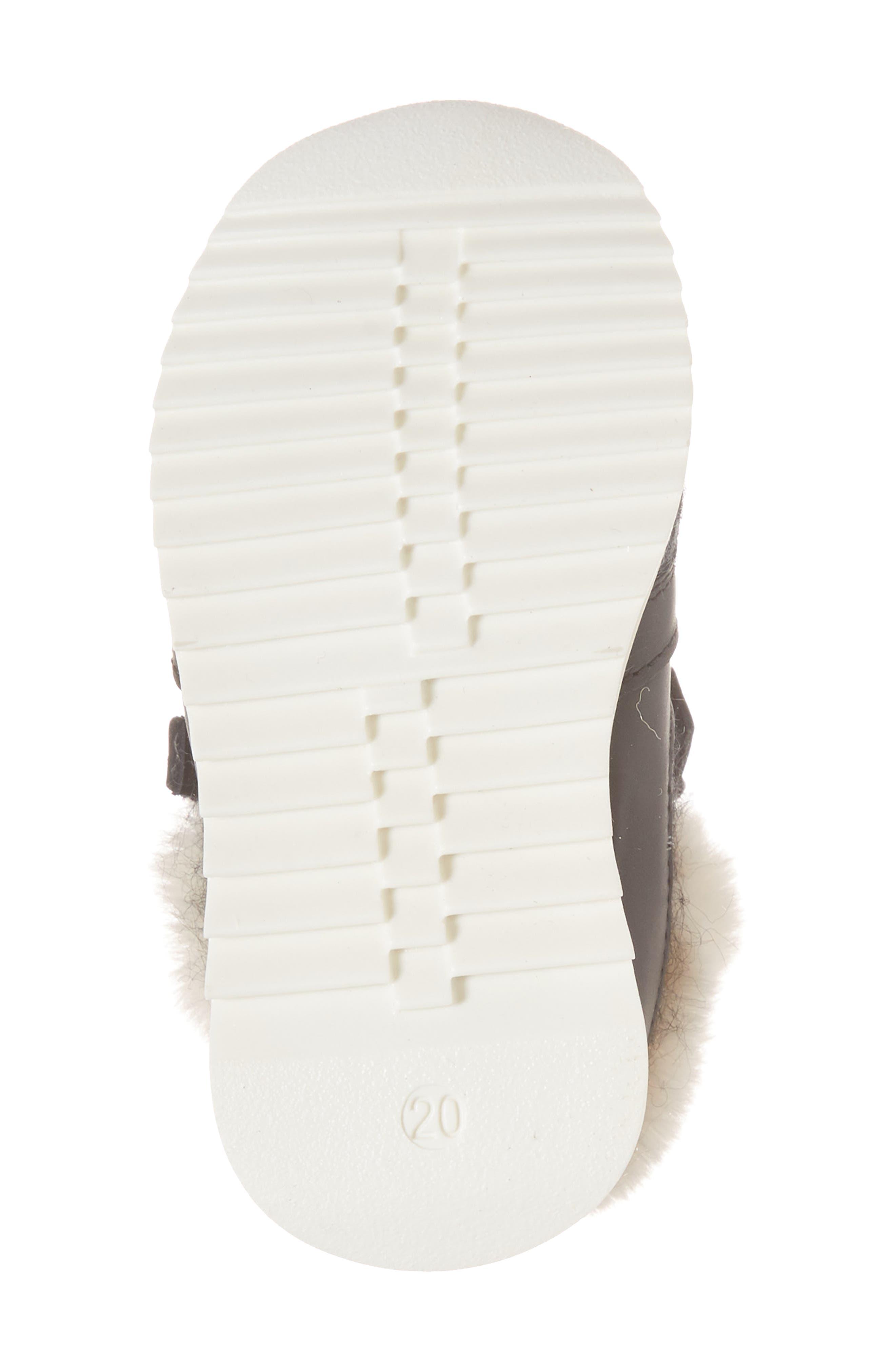 Logobal Mono Gomma Sneaker,                             Alternate thumbnail 6, color,                             BLACK W/ CREAM FUR