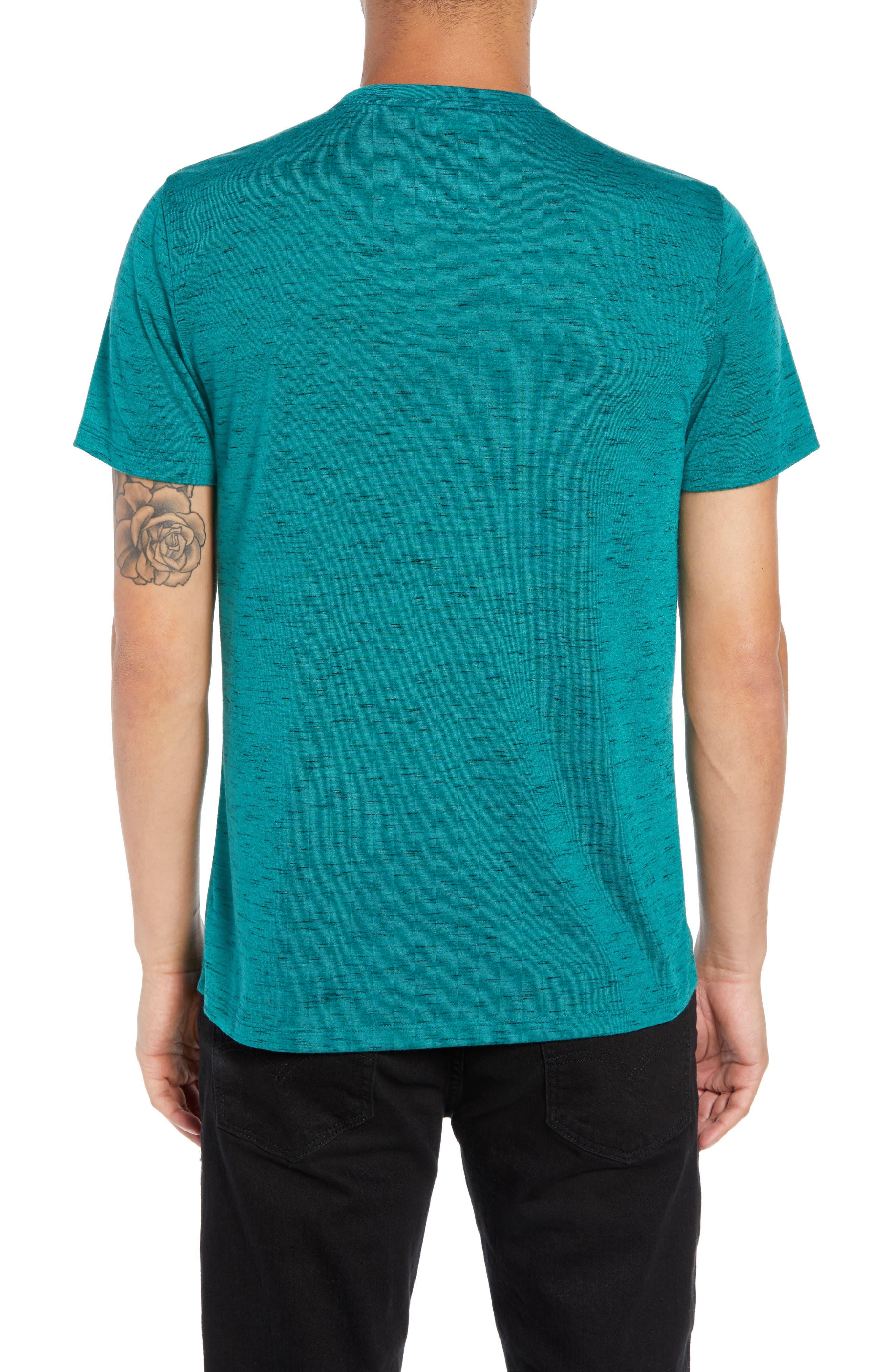 Streaky T-Shirt,                             Alternate thumbnail 2, color,                             TEAL GREEN- BLACK