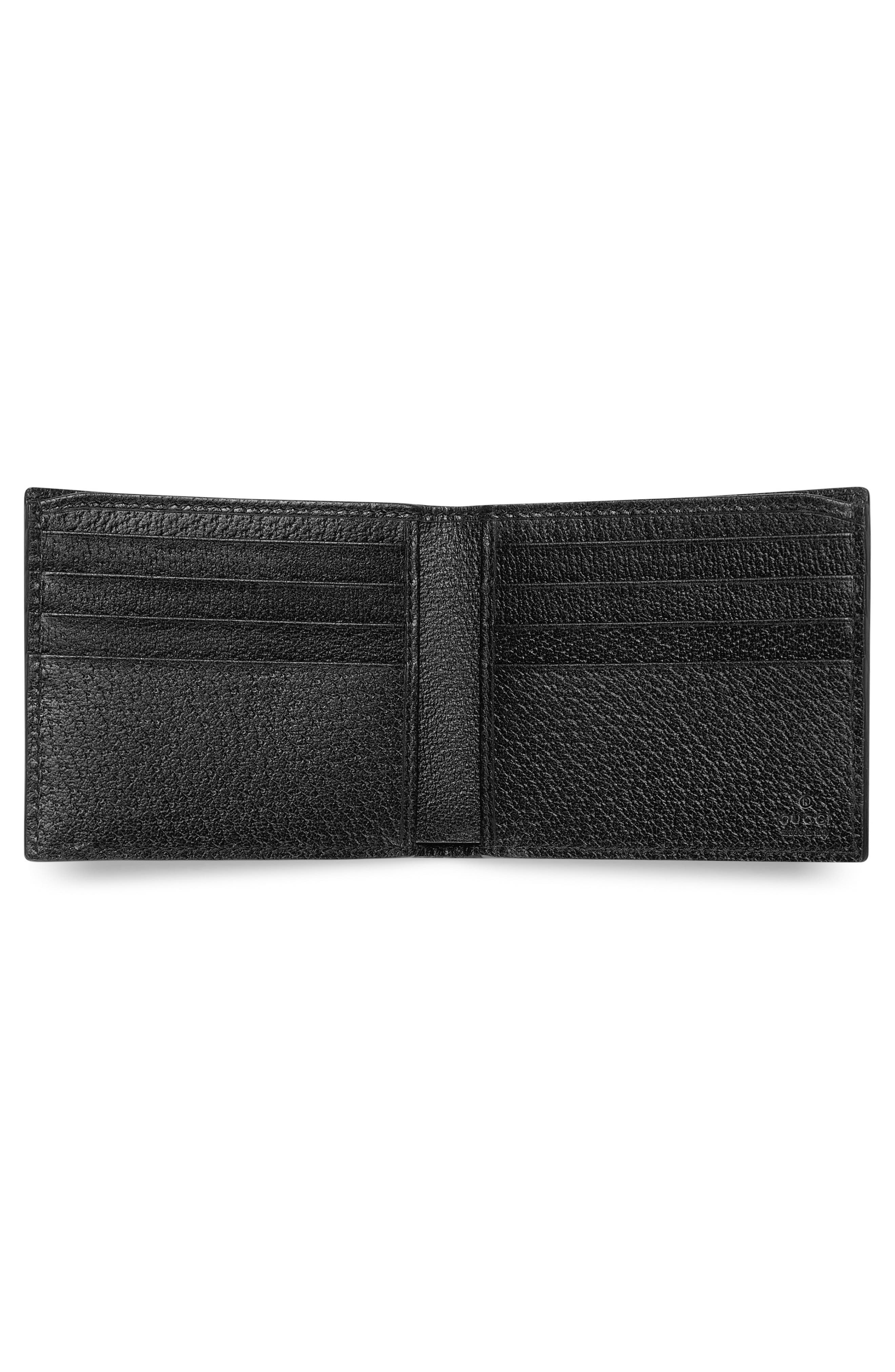 Bee Leather Wallet,                             Alternate thumbnail 2, color,                             001