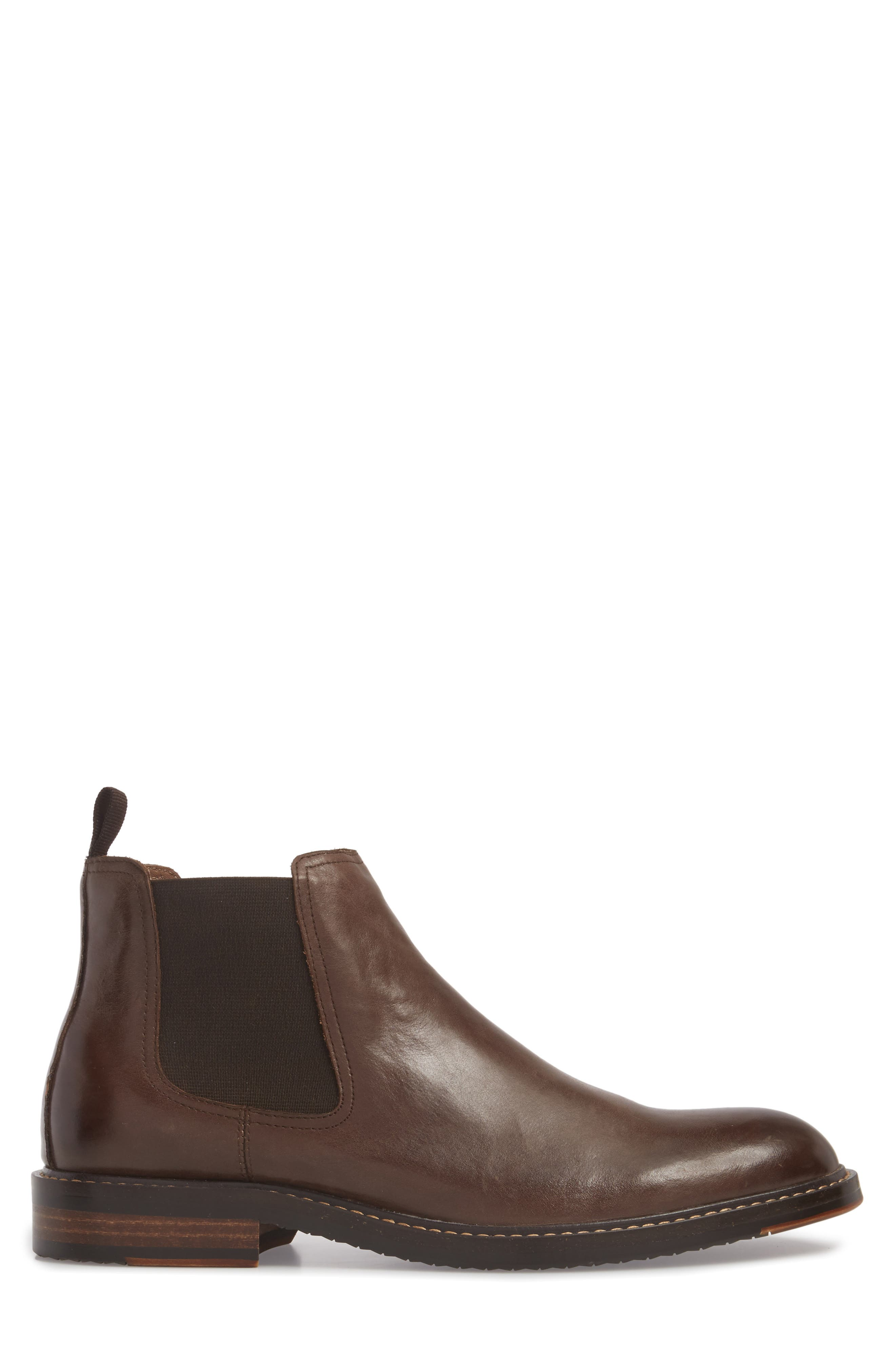 Brooks Chelsea Boot,                             Alternate thumbnail 3, color,                             BROWN LEATHER
