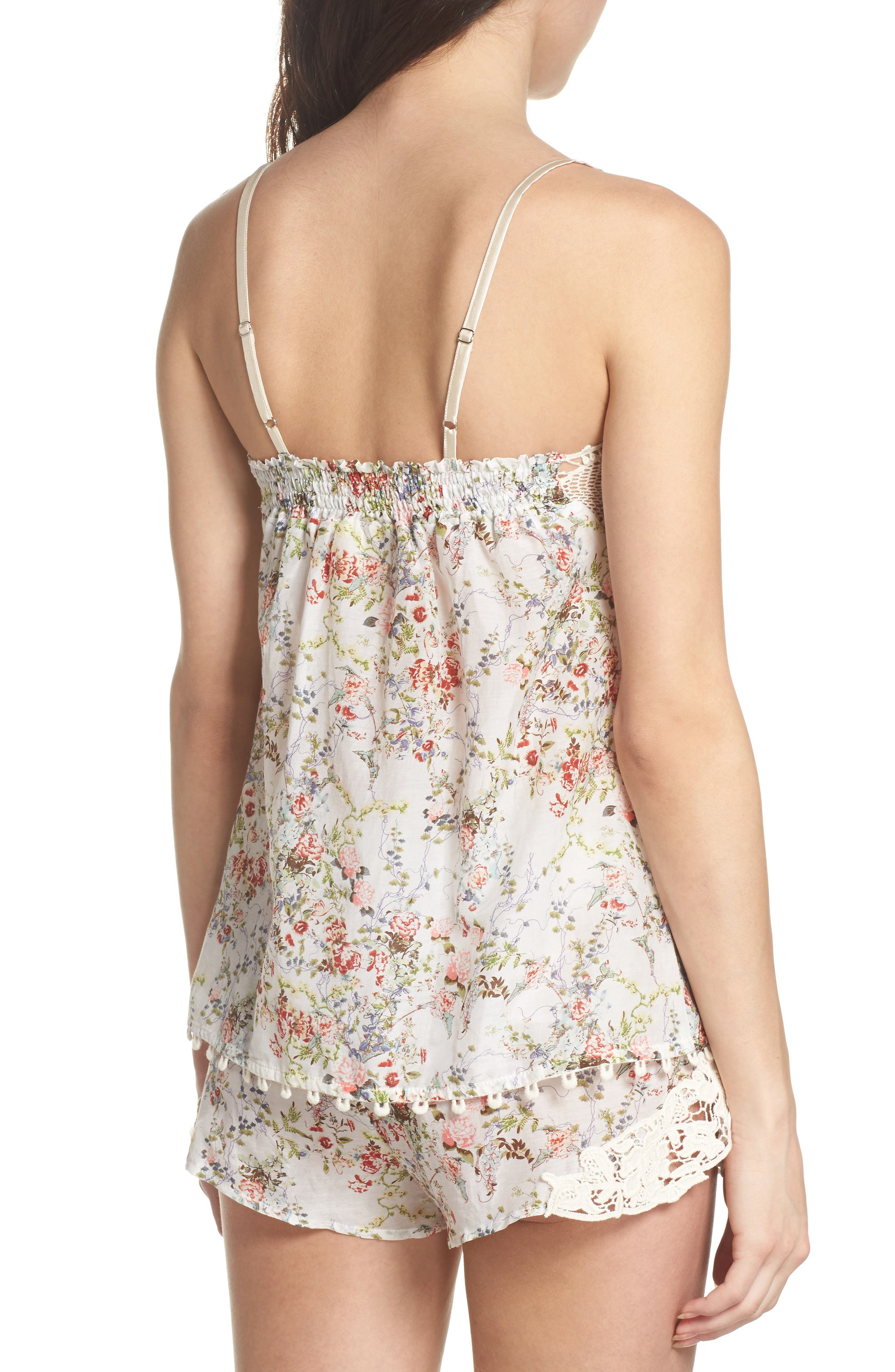 Yolly Camisole,                             Alternate thumbnail 2, color,                             IVORY FLORAL