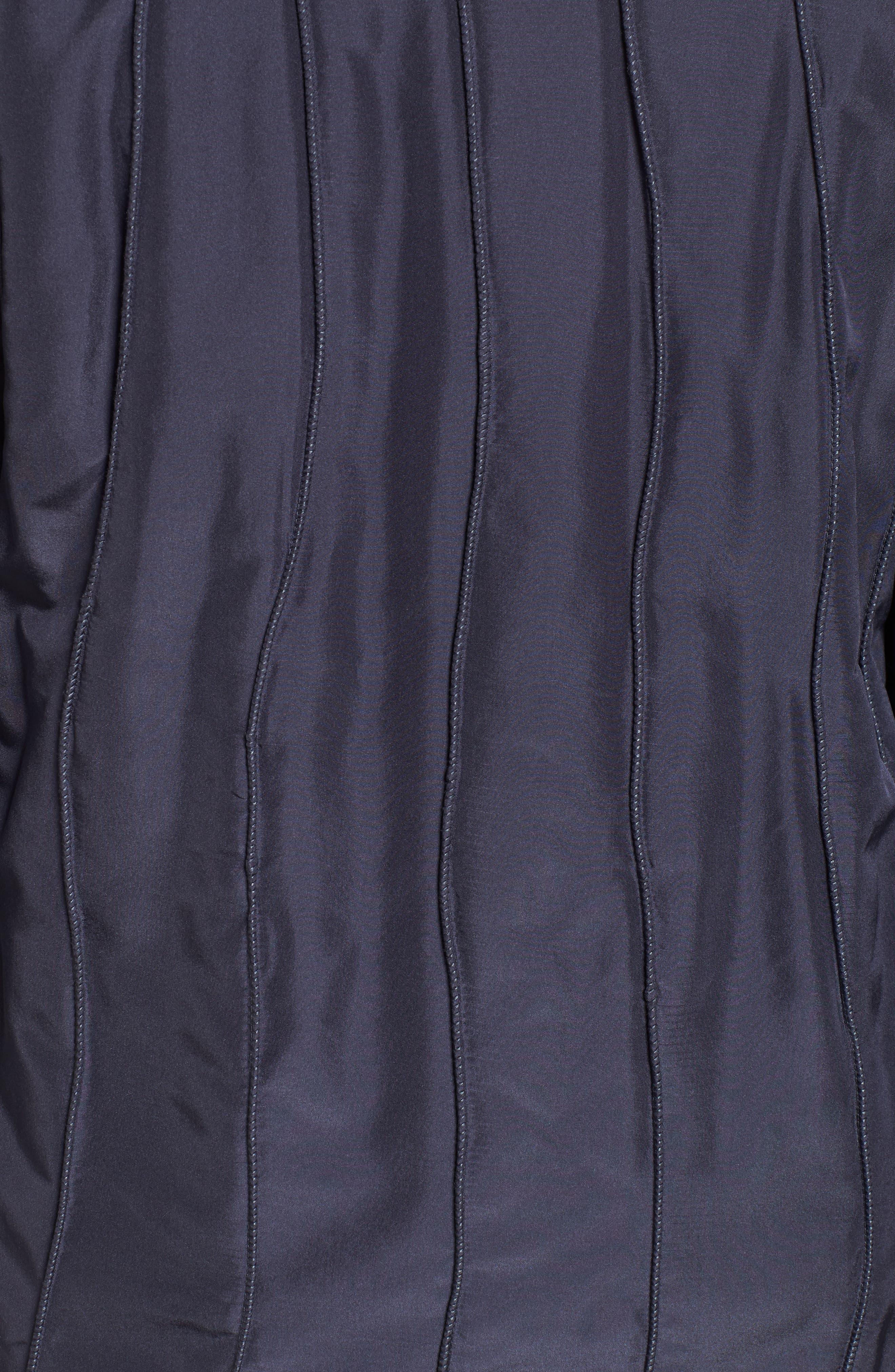 GeorgeSimonton Reversible Silk & Genuine Fox Fur Topper,                             Alternate thumbnail 26, color,