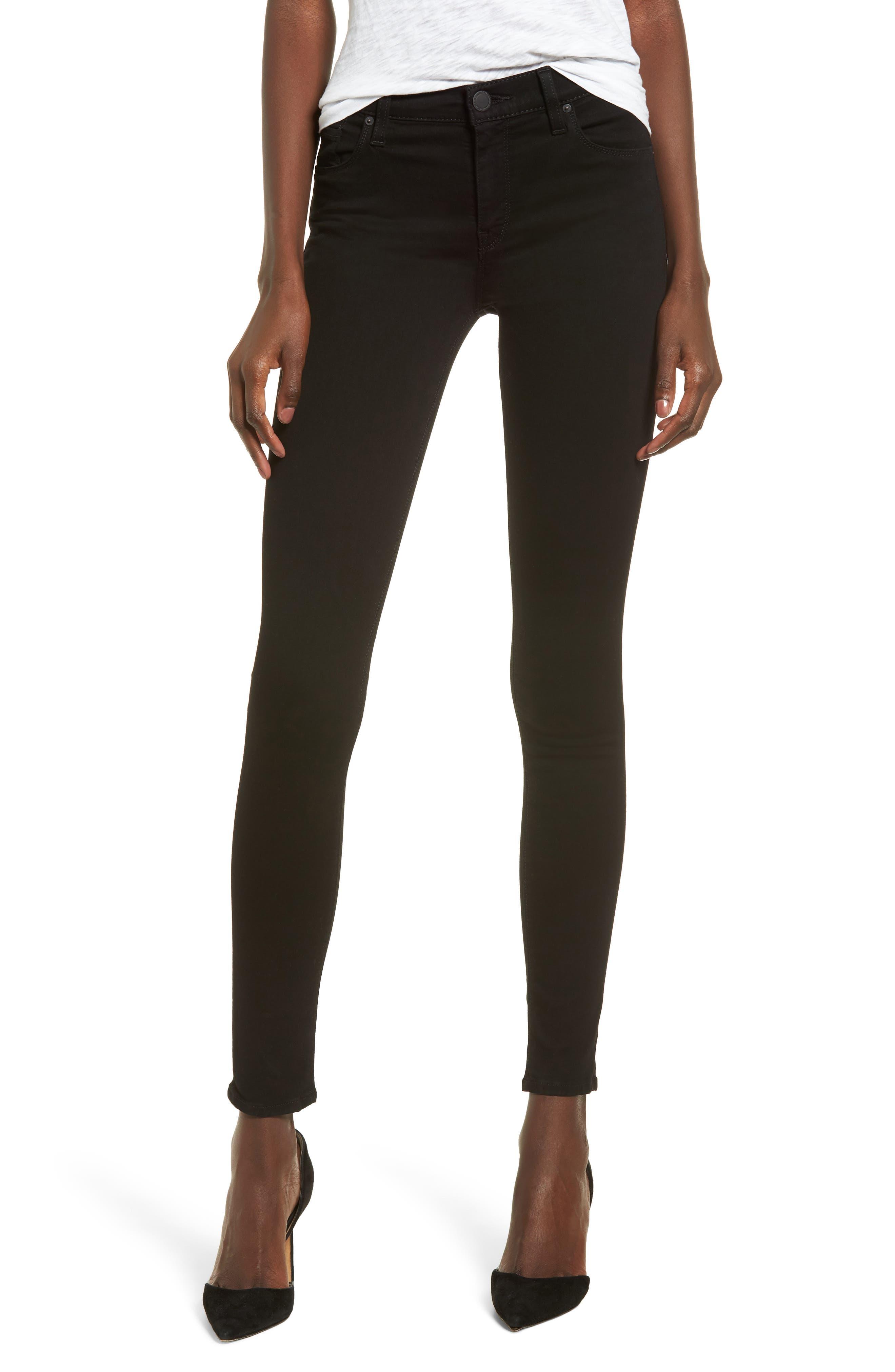 HUDSON Barbara High Rise Skinny Jeans In Black