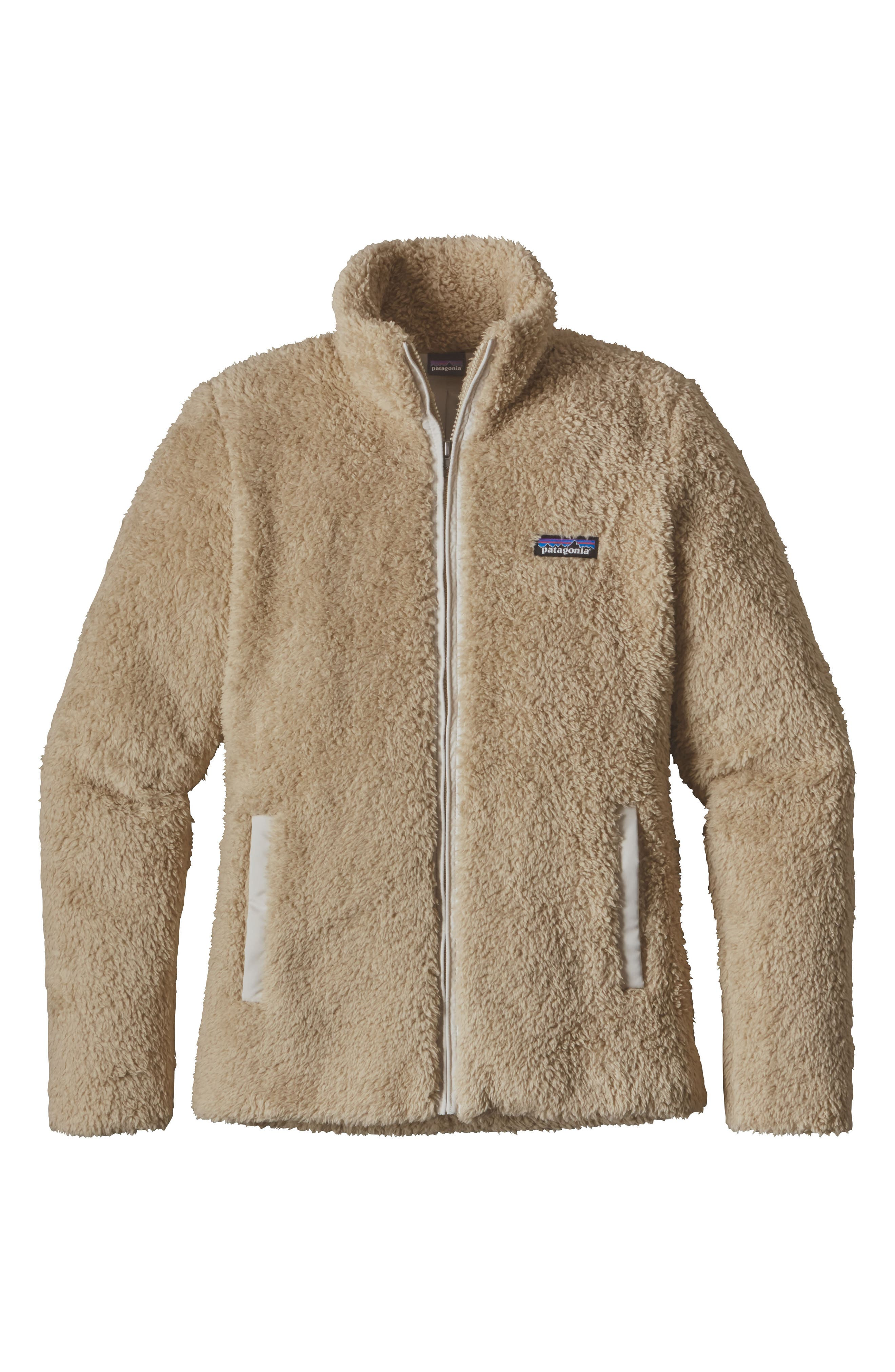 Los Gatos Fleece Jacket,                             Alternate thumbnail 8, color,                             EL CAP KHAKI