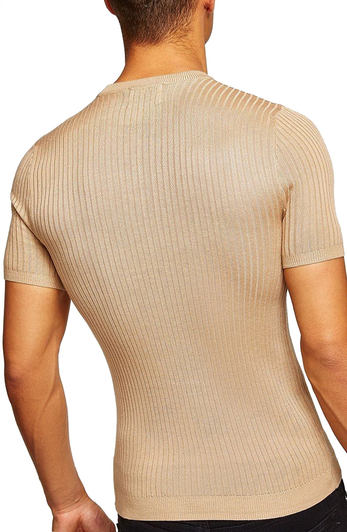 TOPMAN,                             Short Sleeve Muscle Fit Shirt,                             Alternate thumbnail 2, color,                             250