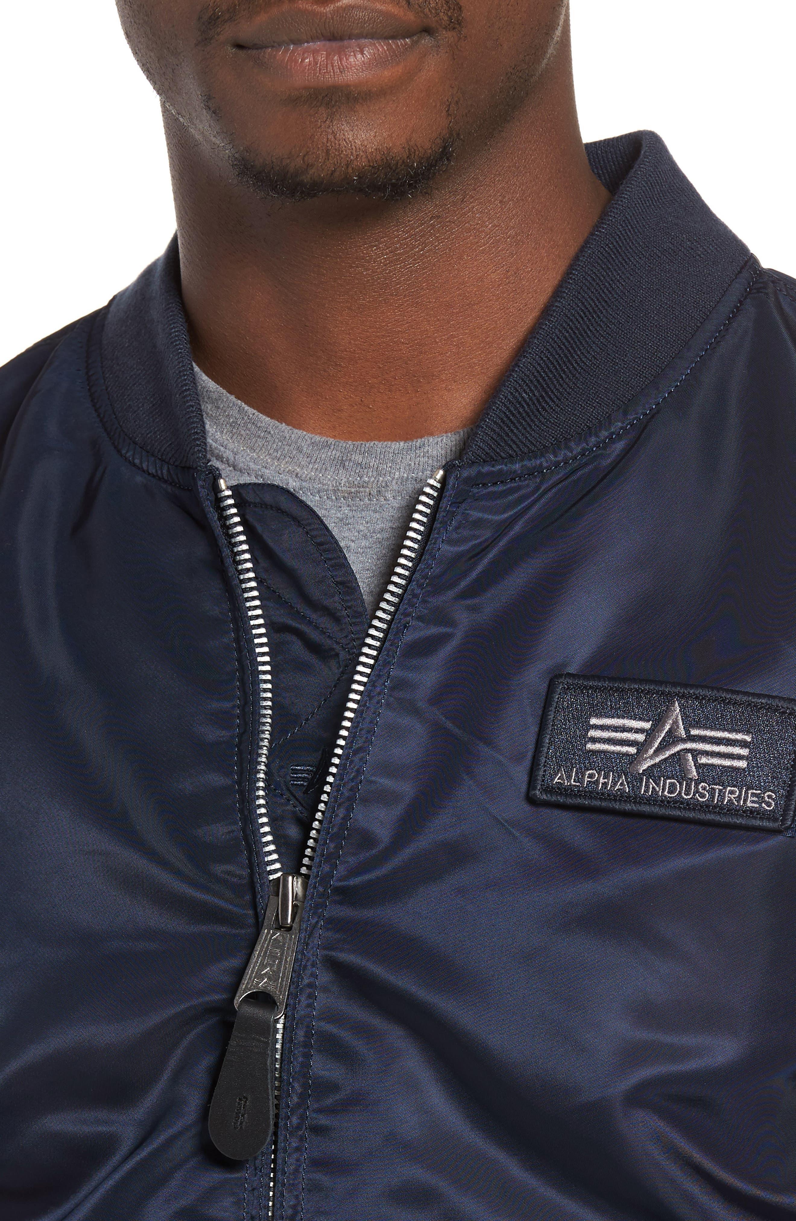 Lightweight L2-B Flight Jacket with Knit Hood,                             Alternate thumbnail 16, color,