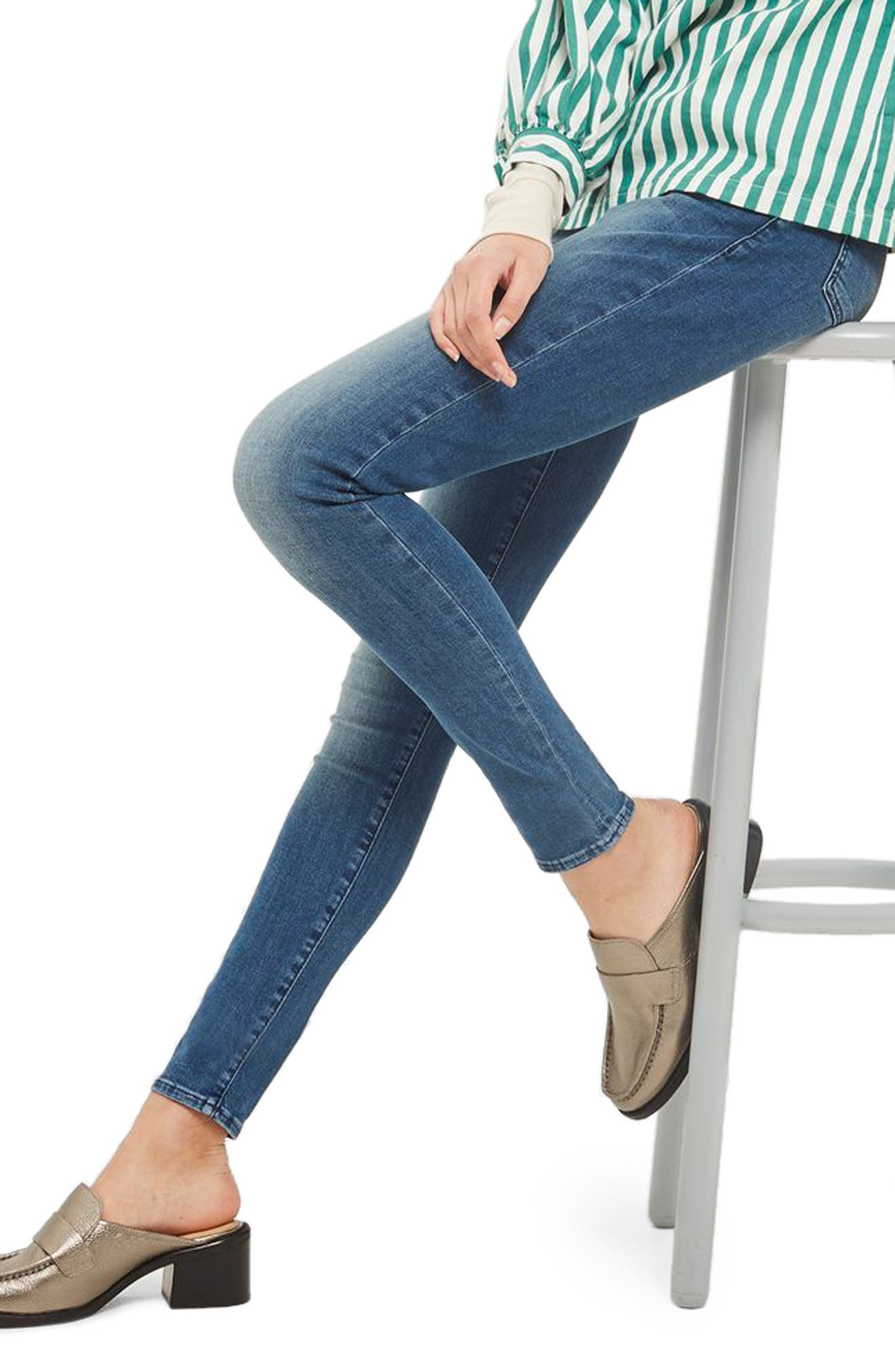 Leigh Skinny Jeans,                             Alternate thumbnail 3, color,                             400