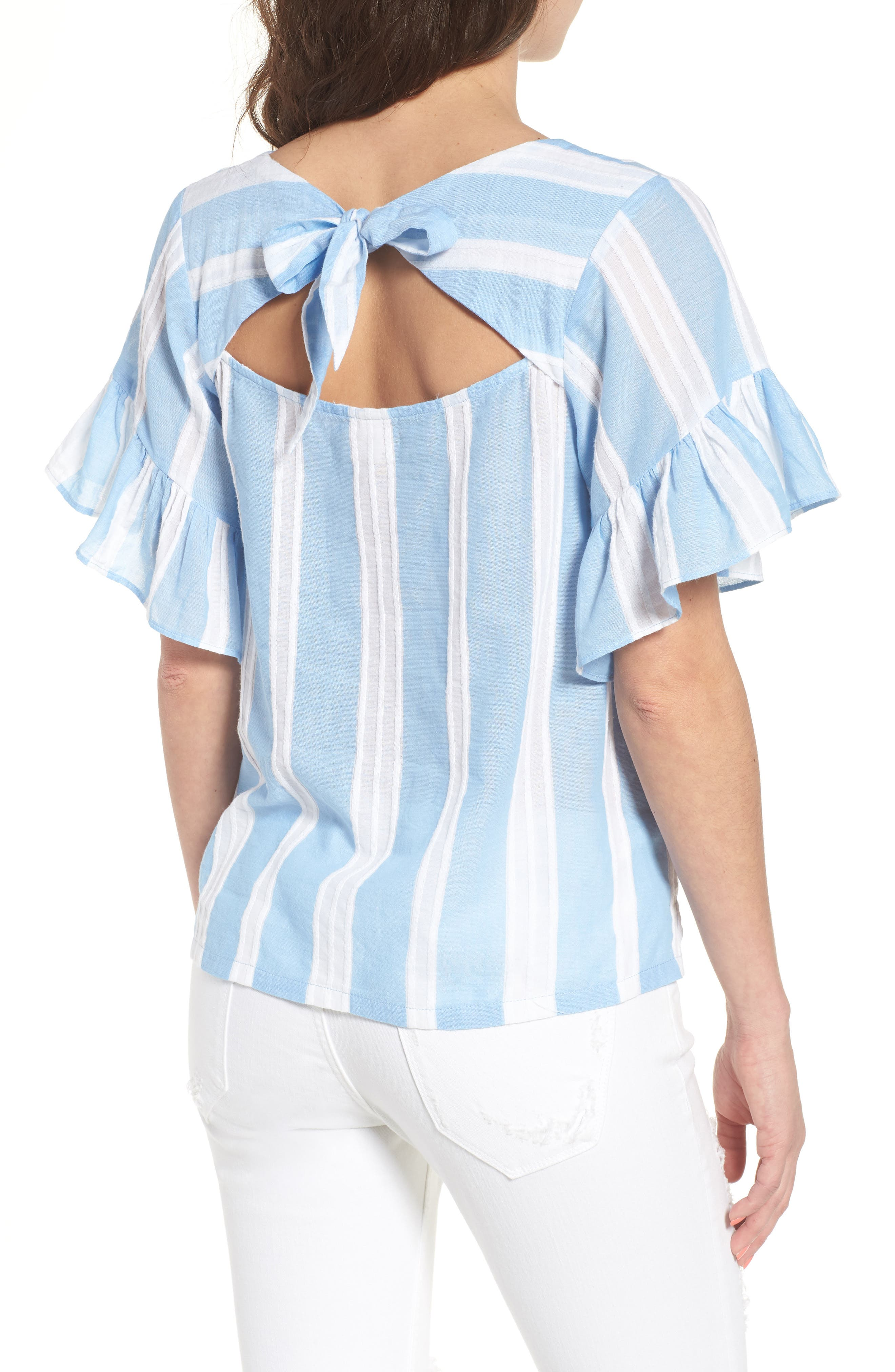 Stripe Tie Back Top,                             Alternate thumbnail 2, color,                             420