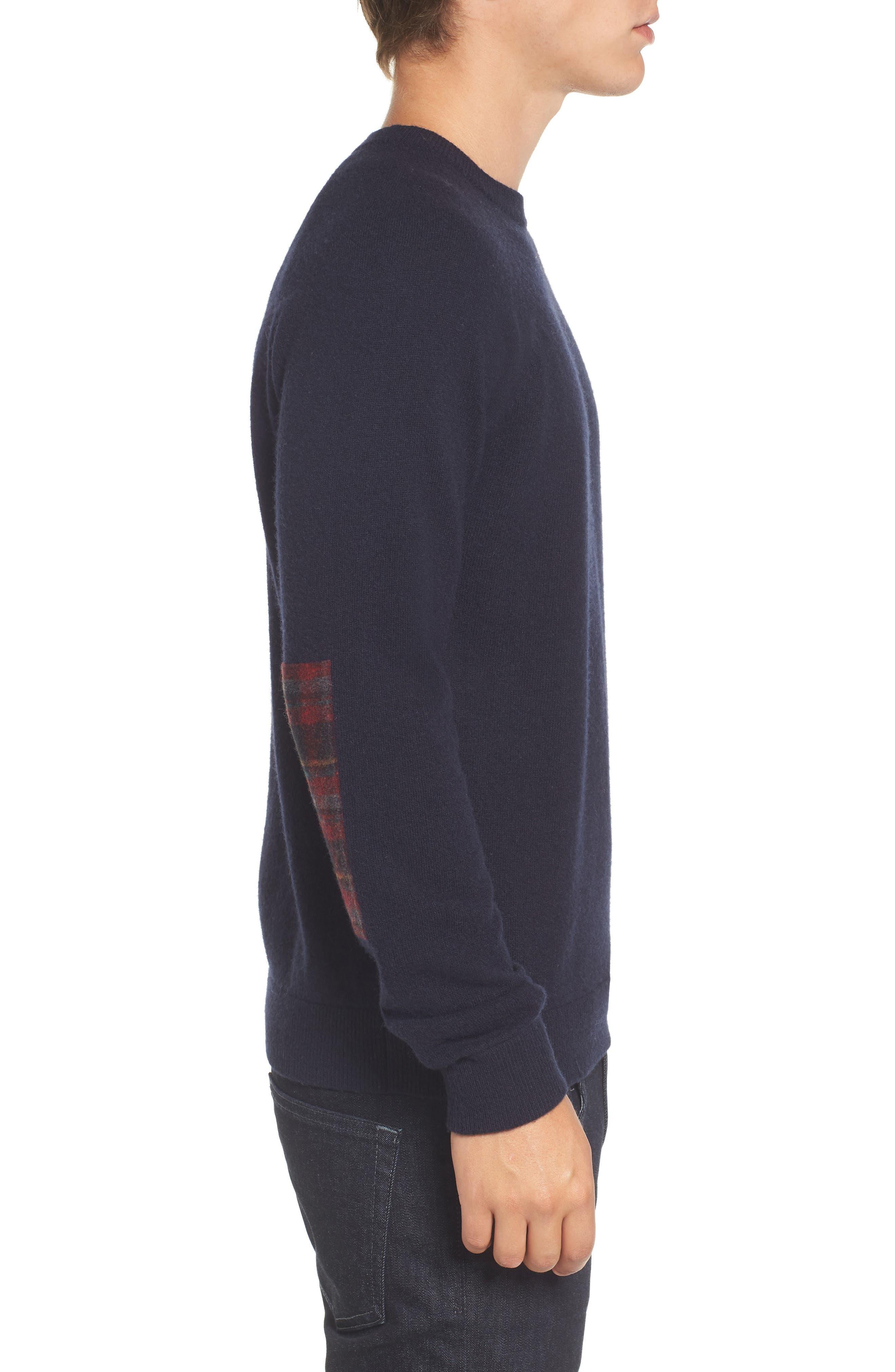 Crewneck Wool Sweater,                             Alternate thumbnail 3, color,                             429