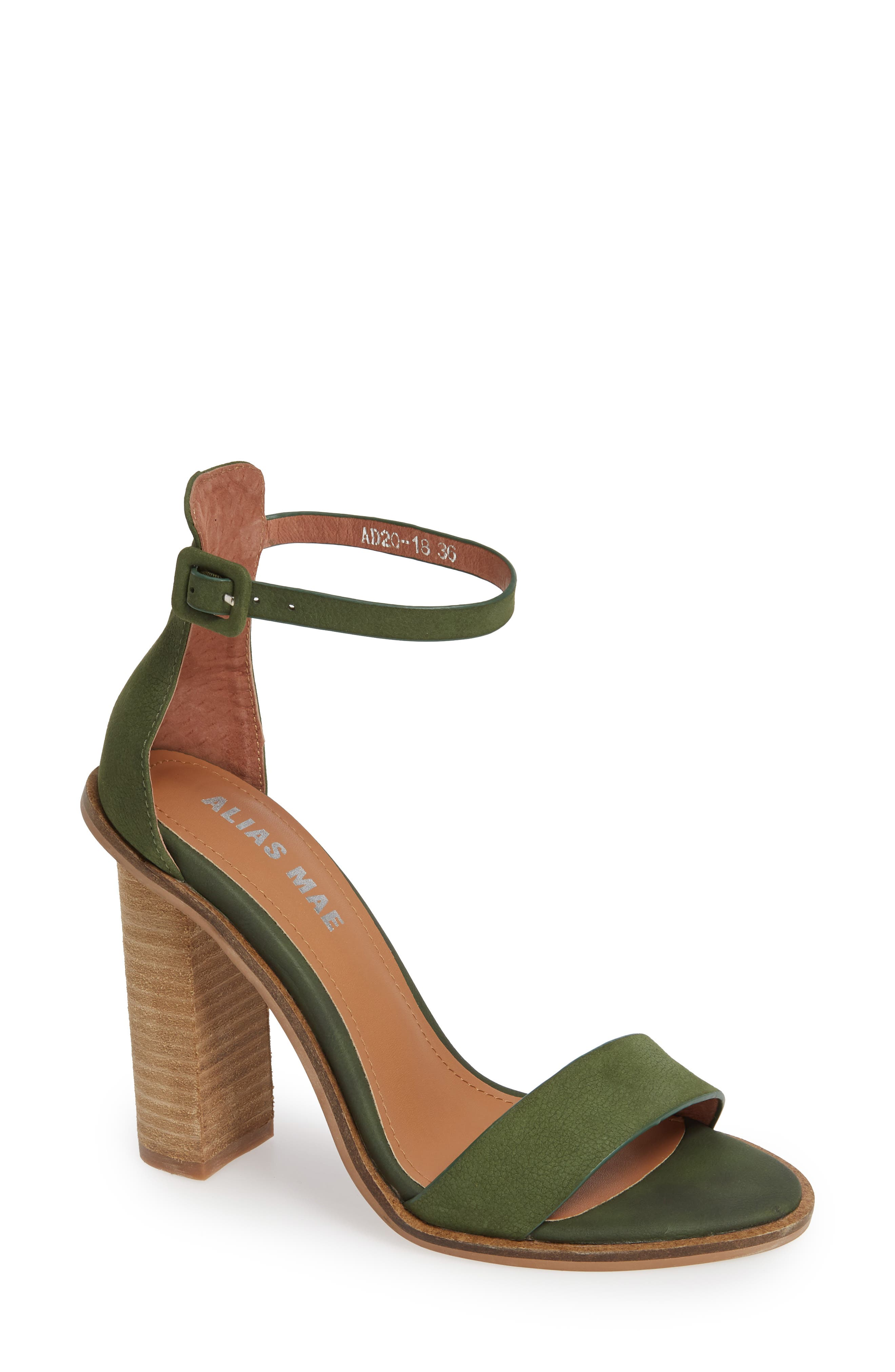 ALIAS MAE Addax Sandal in Moss Leather