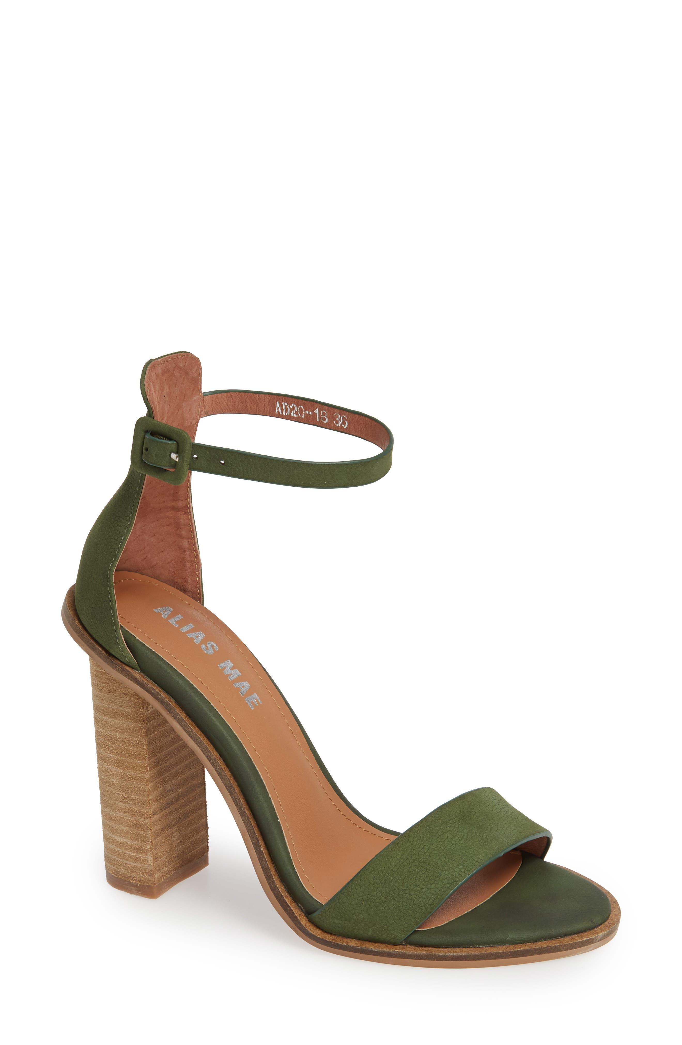 ALIAS MAE Addax Sandal in Moss Leather