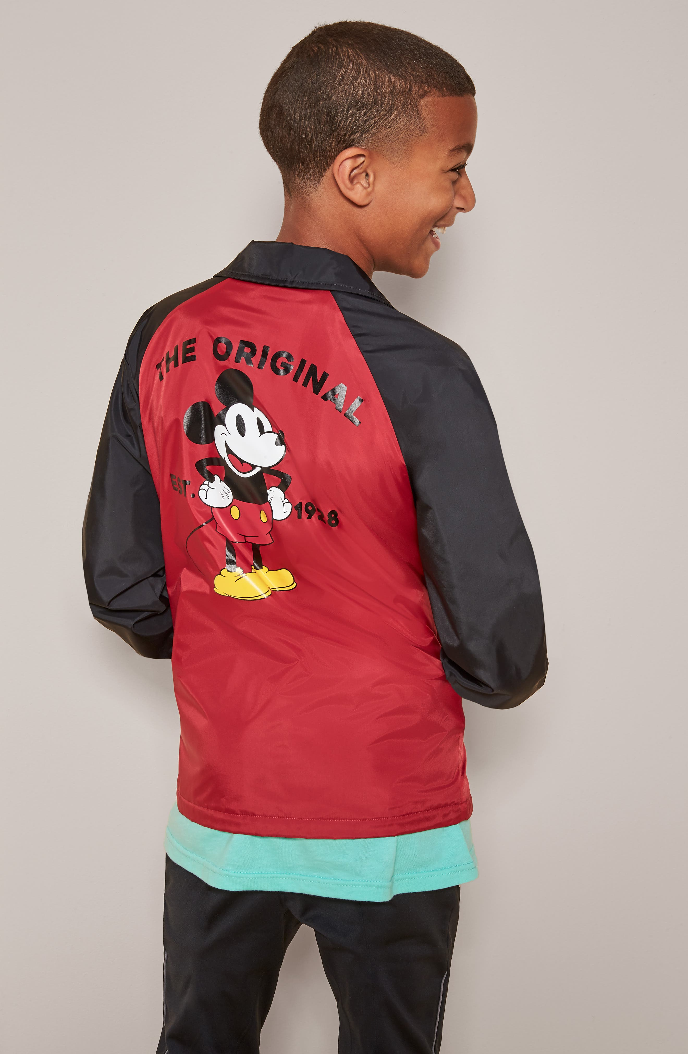 Torrey Water Resistant Jacket,                             Alternate thumbnail 4, color,                             CLASSIC MICKEY
