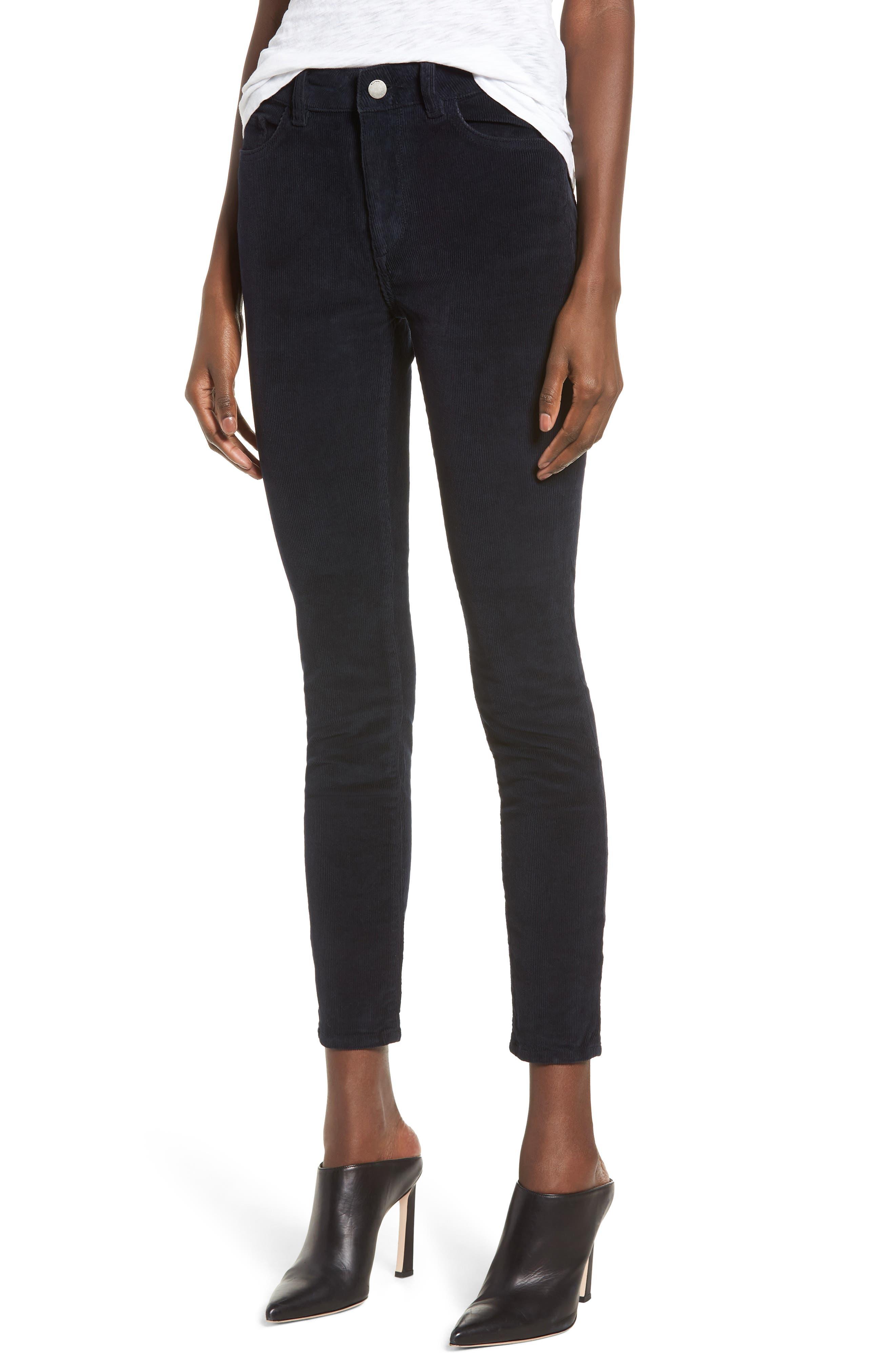 1961 Farrow Instaslim High Waist Ankle Skinny Jeans in Night Sky