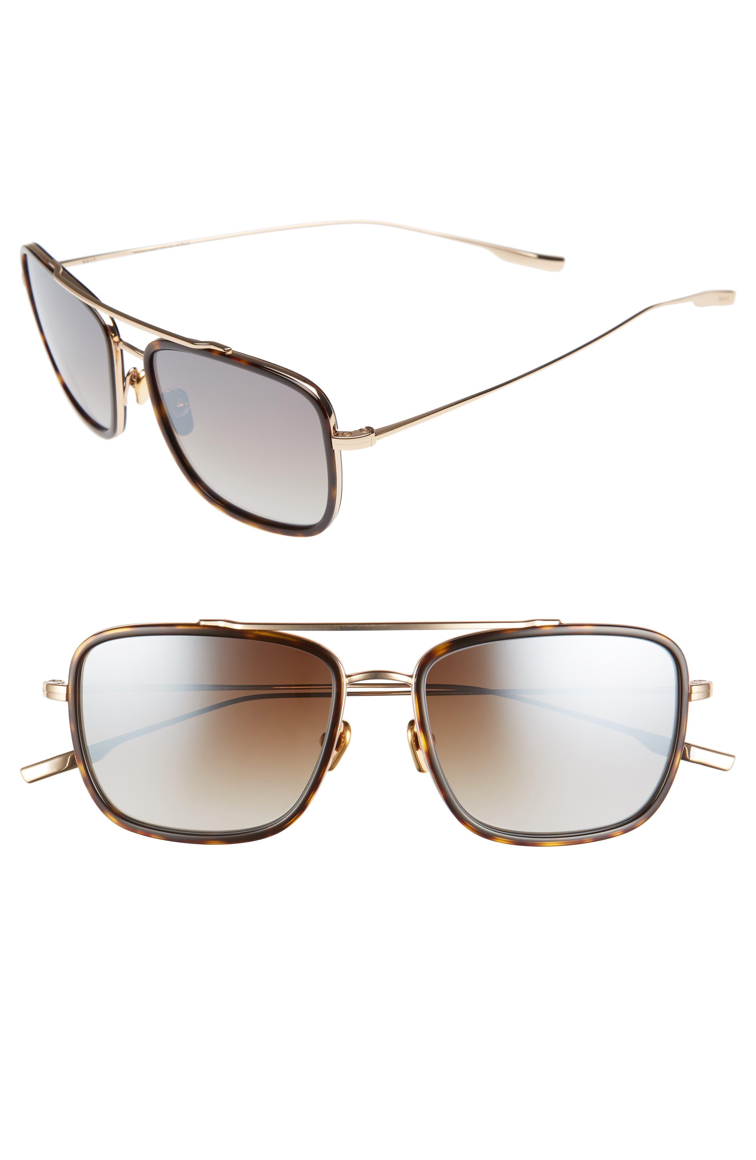 Harrison 54mm Polarized Sunglasses,                             Main thumbnail 1, color,                             HONEY GOLD/ OILED BARK