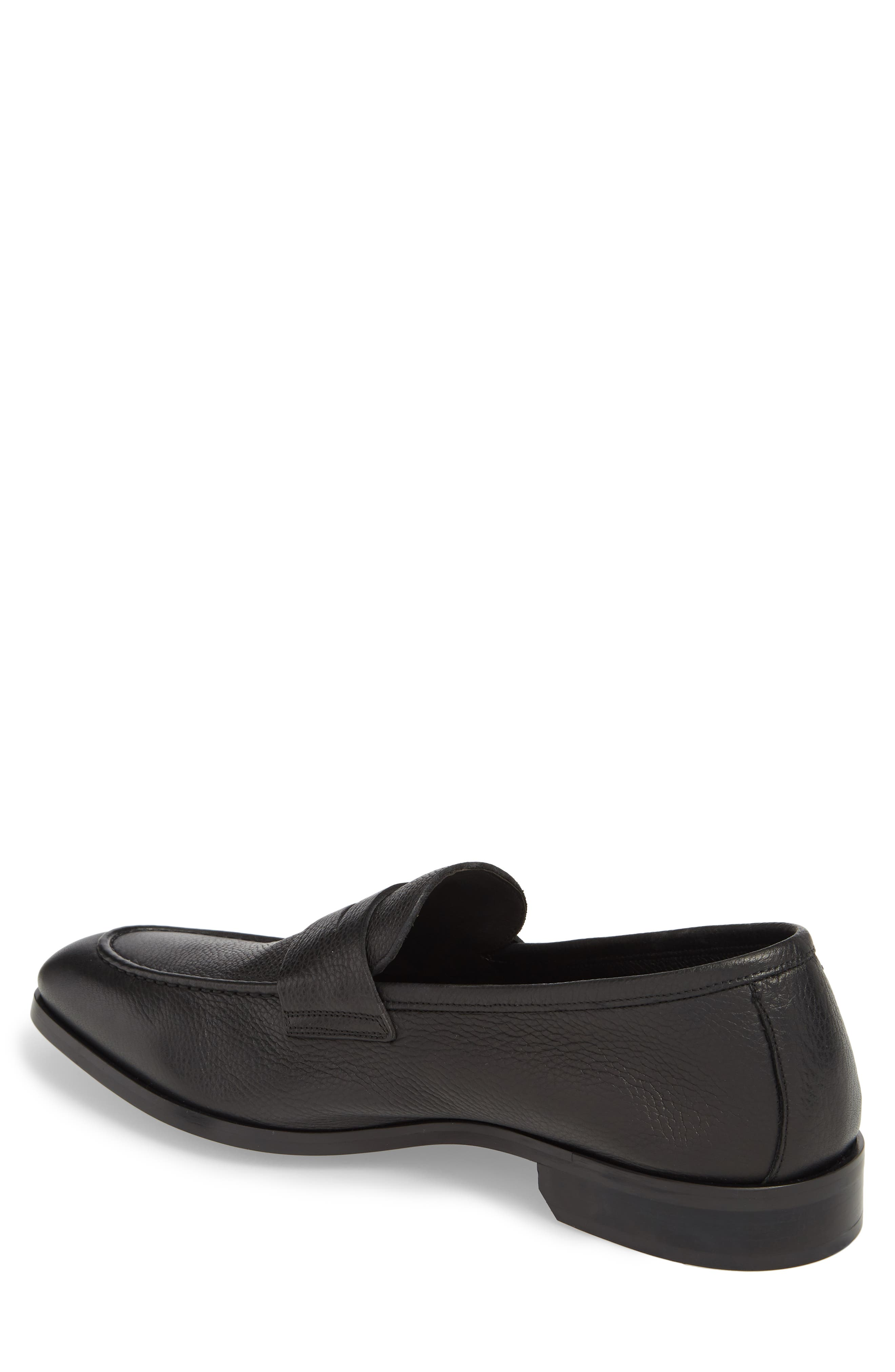 TO BOOT NEW YORK,                             Johnson Penny Loafer,                             Alternate thumbnail 2, color,                             BLACK PEBBLED LEATHER