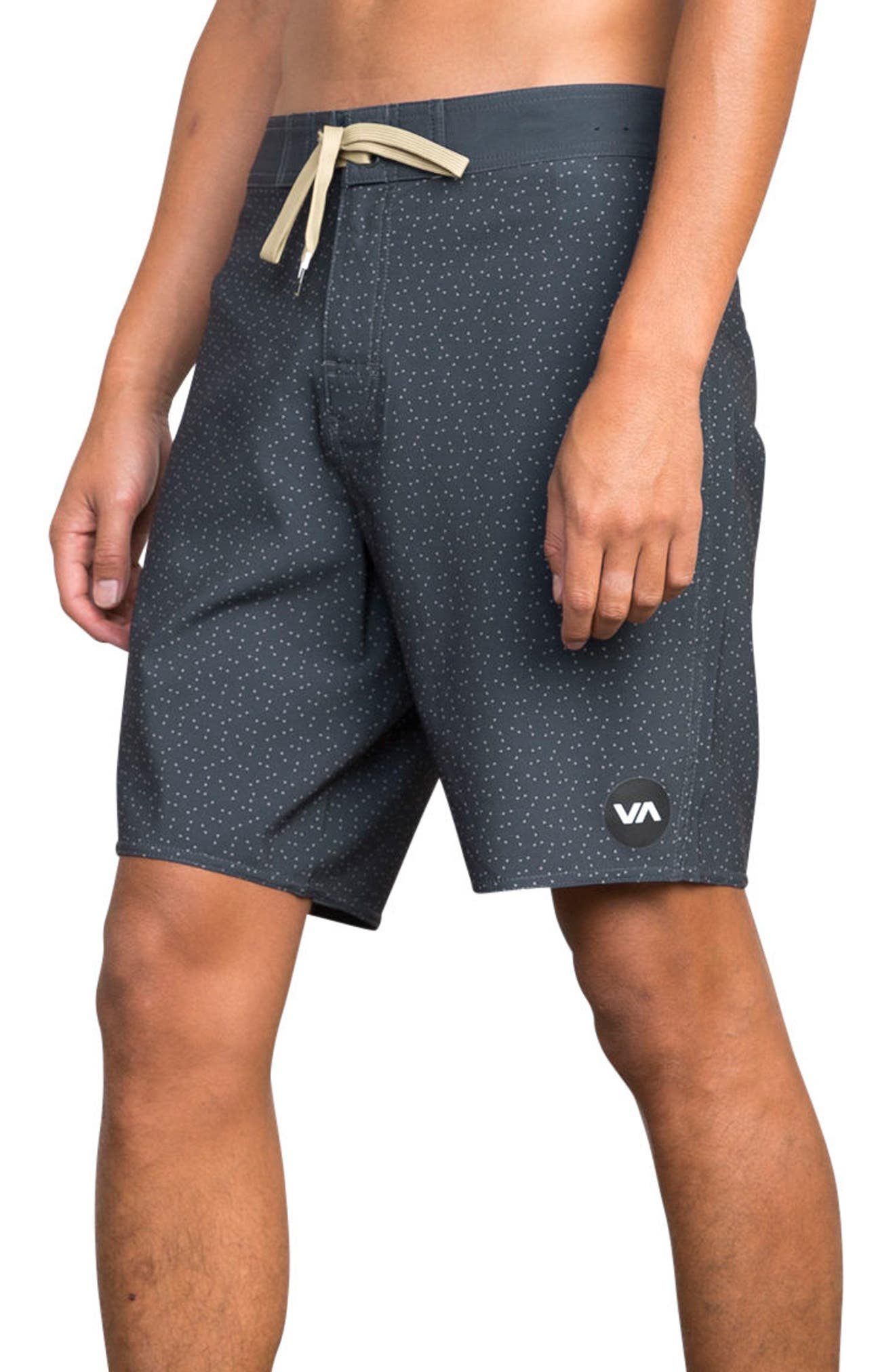 Mirage Print Board Shorts,                             Alternate thumbnail 3, color,                             CLASSIC INDIGO