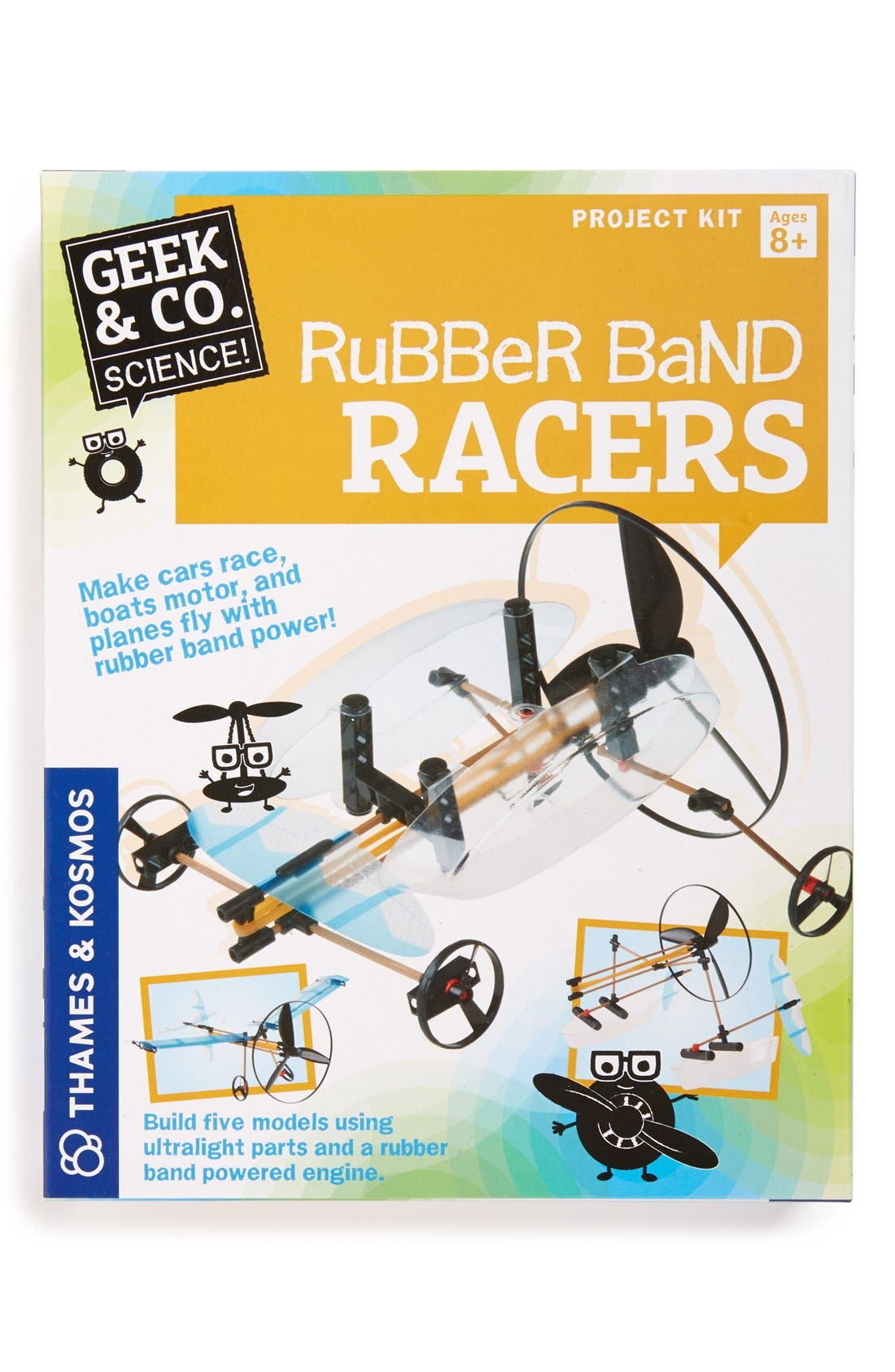 THAMES & KOSMOS,                             'Rubber Band Racers' Kit,                             Main thumbnail 1, color,                             MULTI