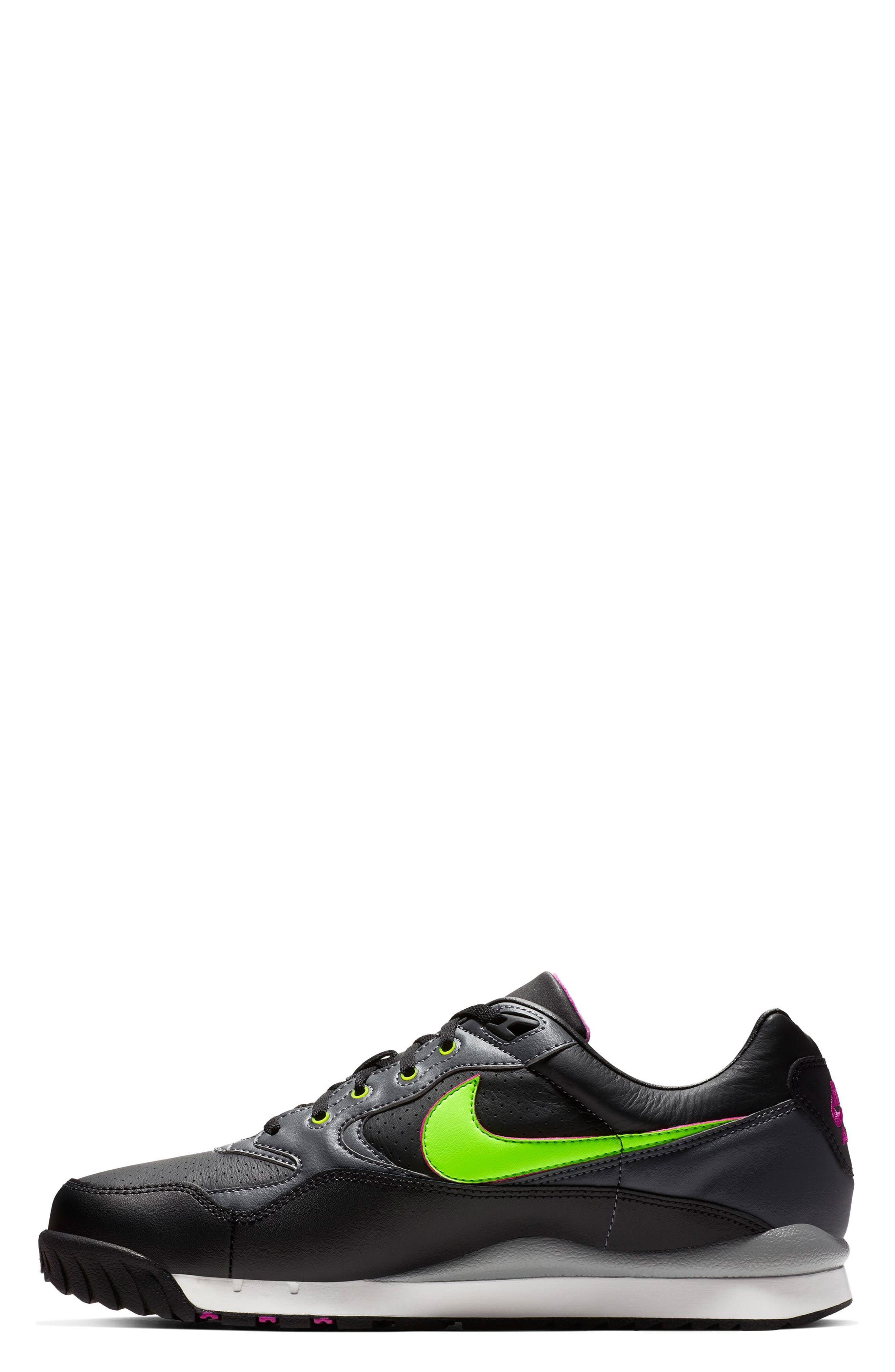 NIKE,                             Air Wildwood ACG Sneaker,                             Alternate thumbnail 3, color,                             BLACK/ ELECTRIC GREEN/ VIOLET