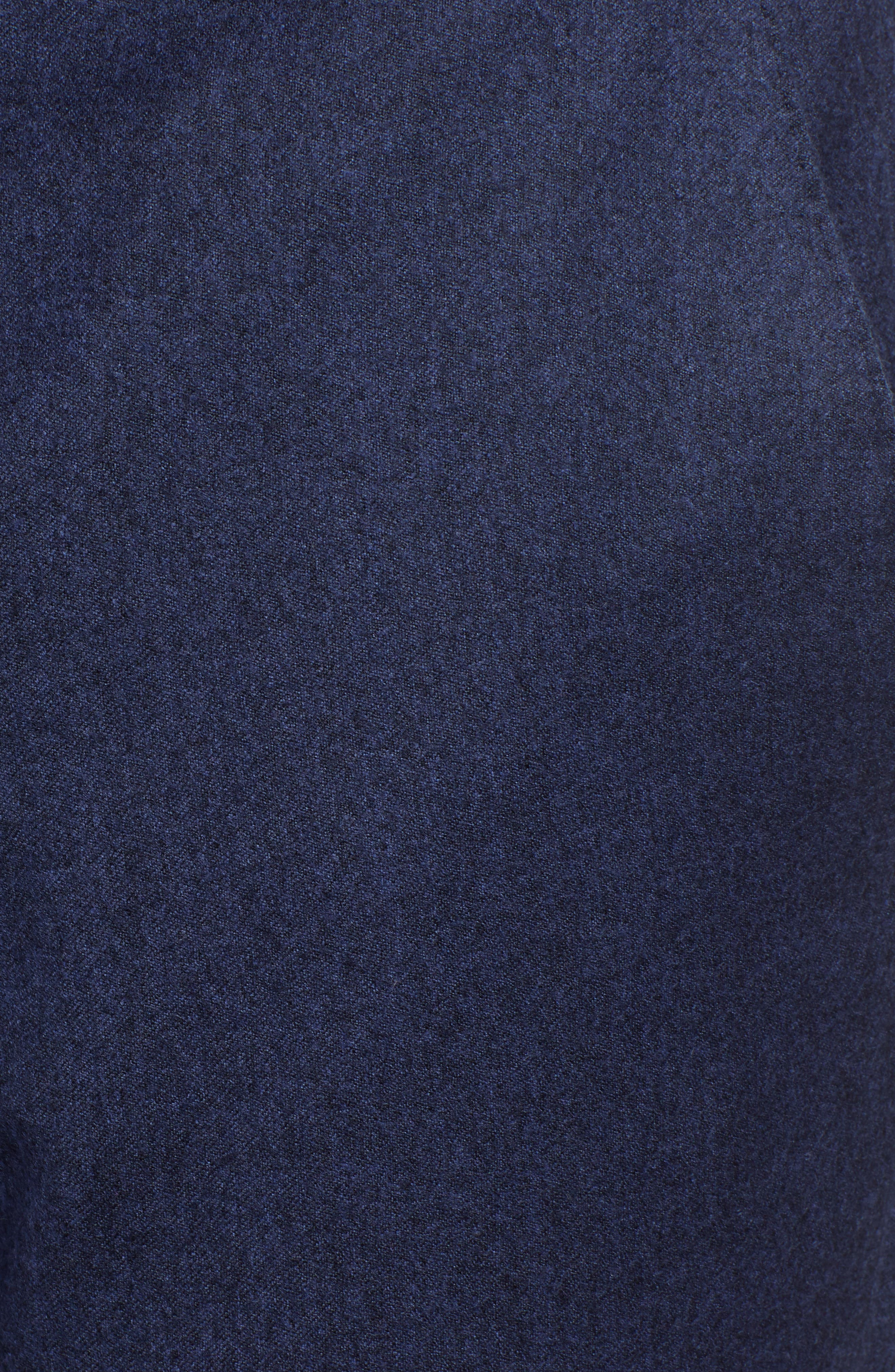 Gains Flat Front Solid Wool Trousers,                             Alternate thumbnail 5, color,                             DARK BLUE