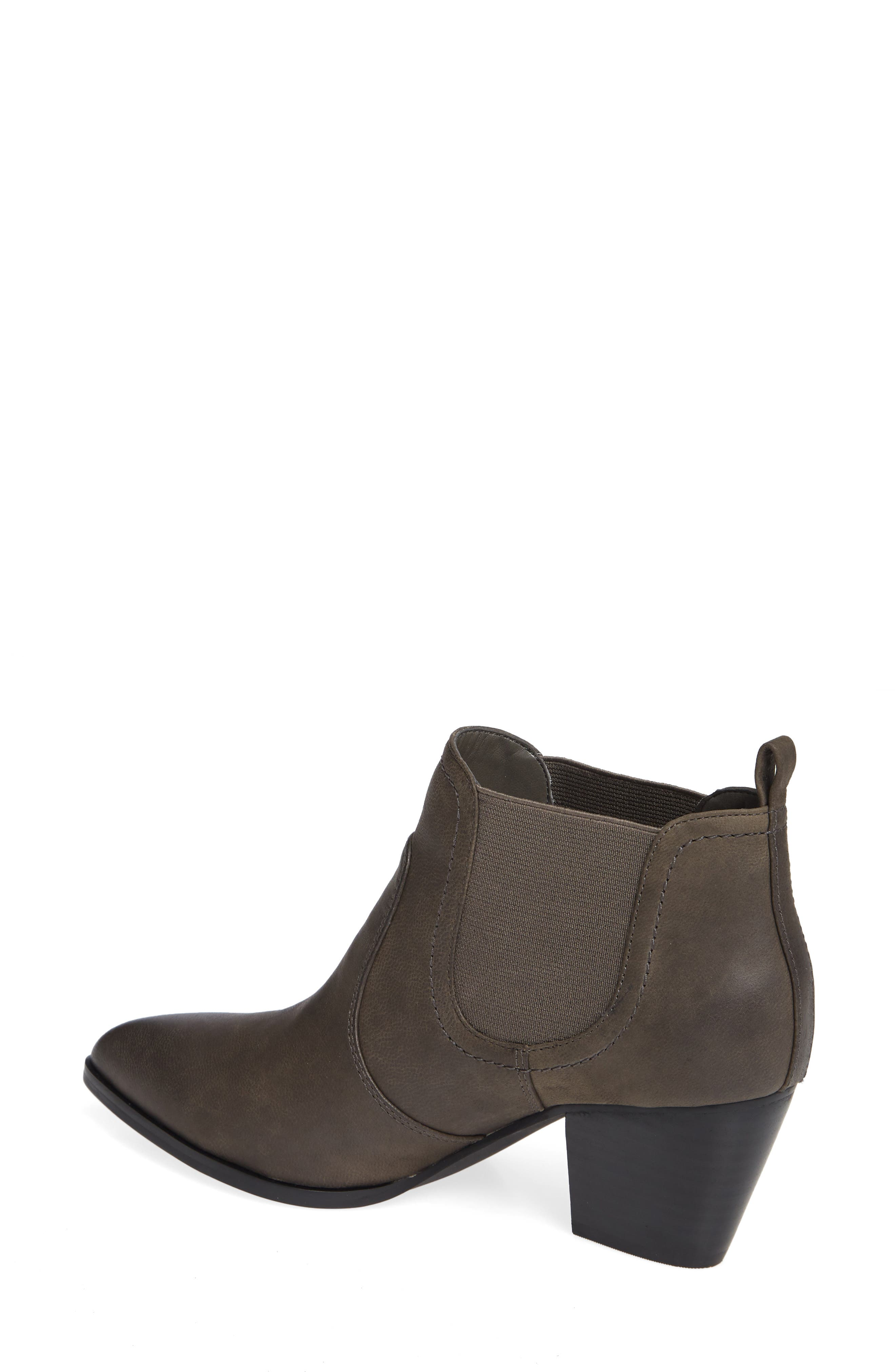 Emerson Chelsea Bootie,                             Alternate thumbnail 2, color,                             GREY BURNISHED LEATHER