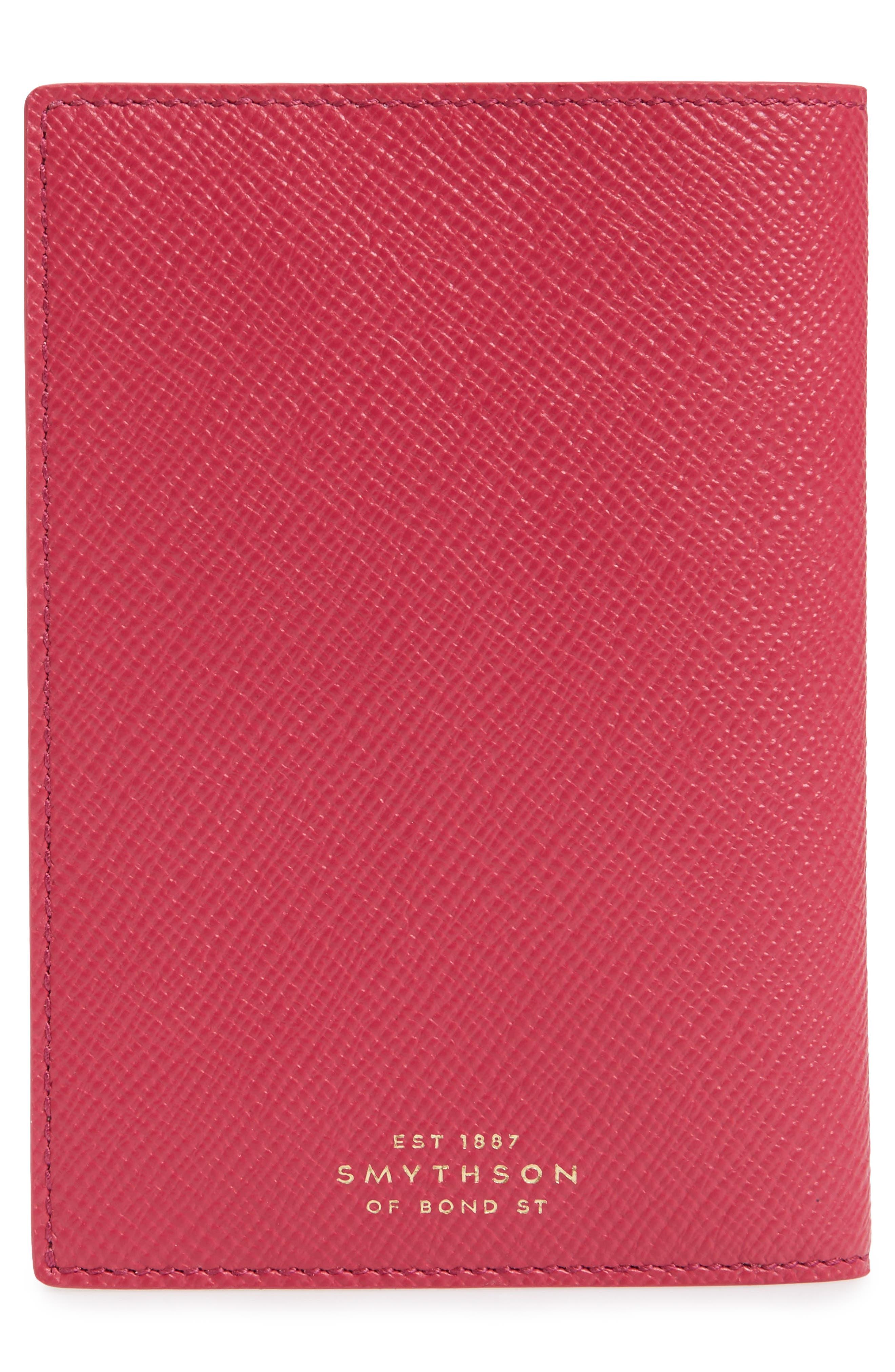 Panama Calfskin Leather Passport Holder,                             Alternate thumbnail 4, color,                             650
