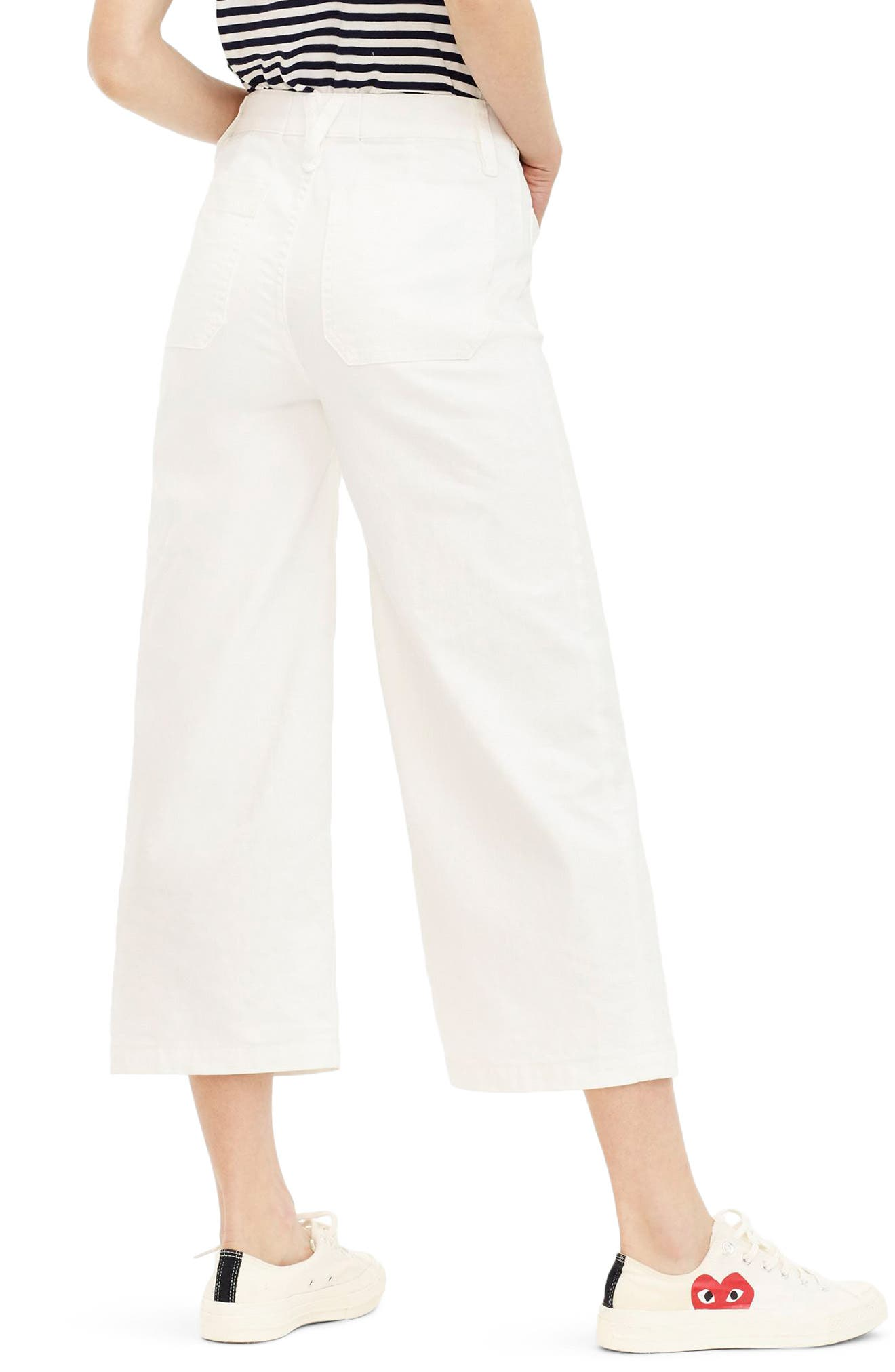 Point Sur Wide Leg Crop Jeans,                             Alternate thumbnail 2, color,                             100