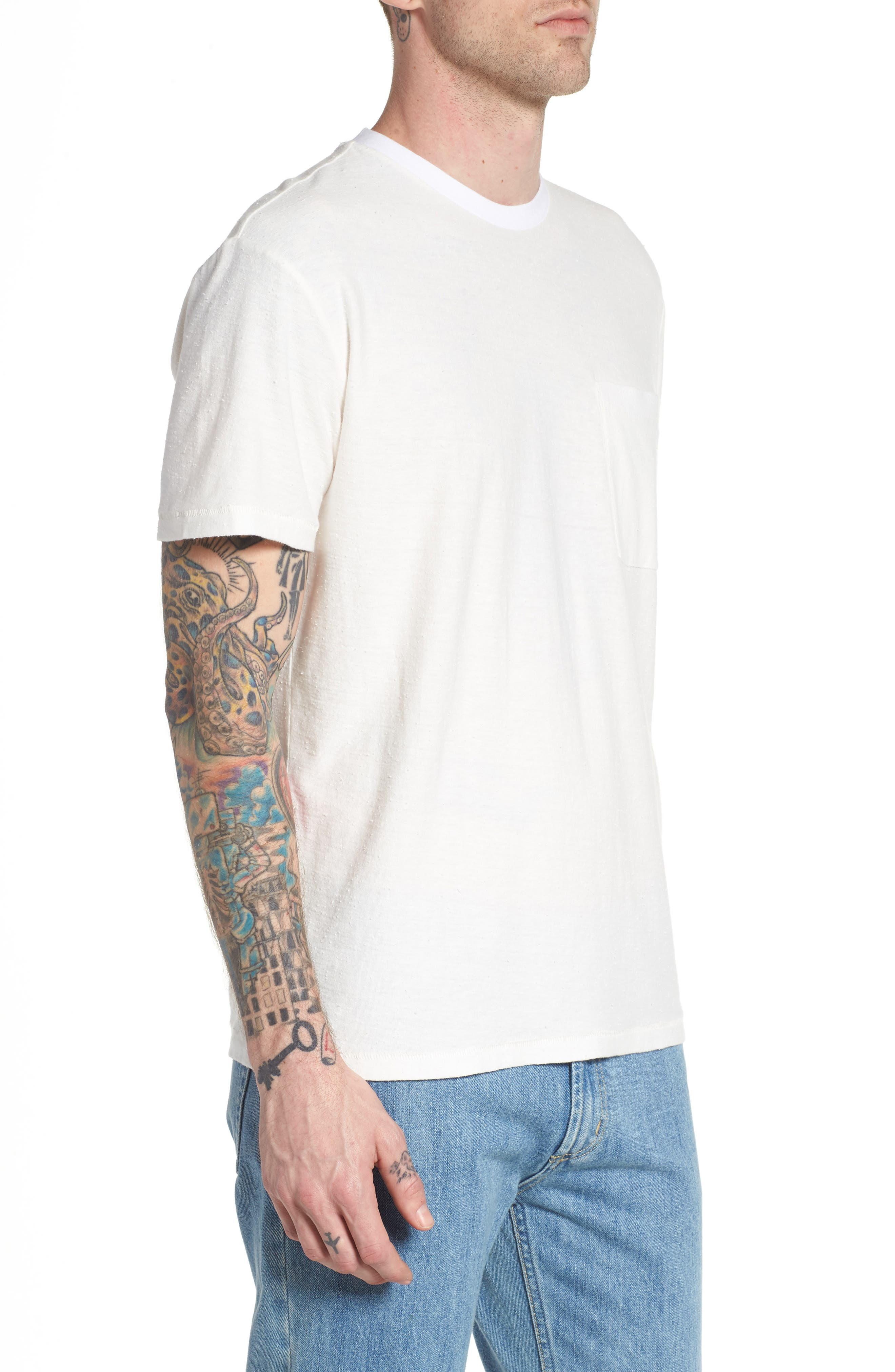 Nep Cotton Pocket T-Shirt,                             Alternate thumbnail 6, color,