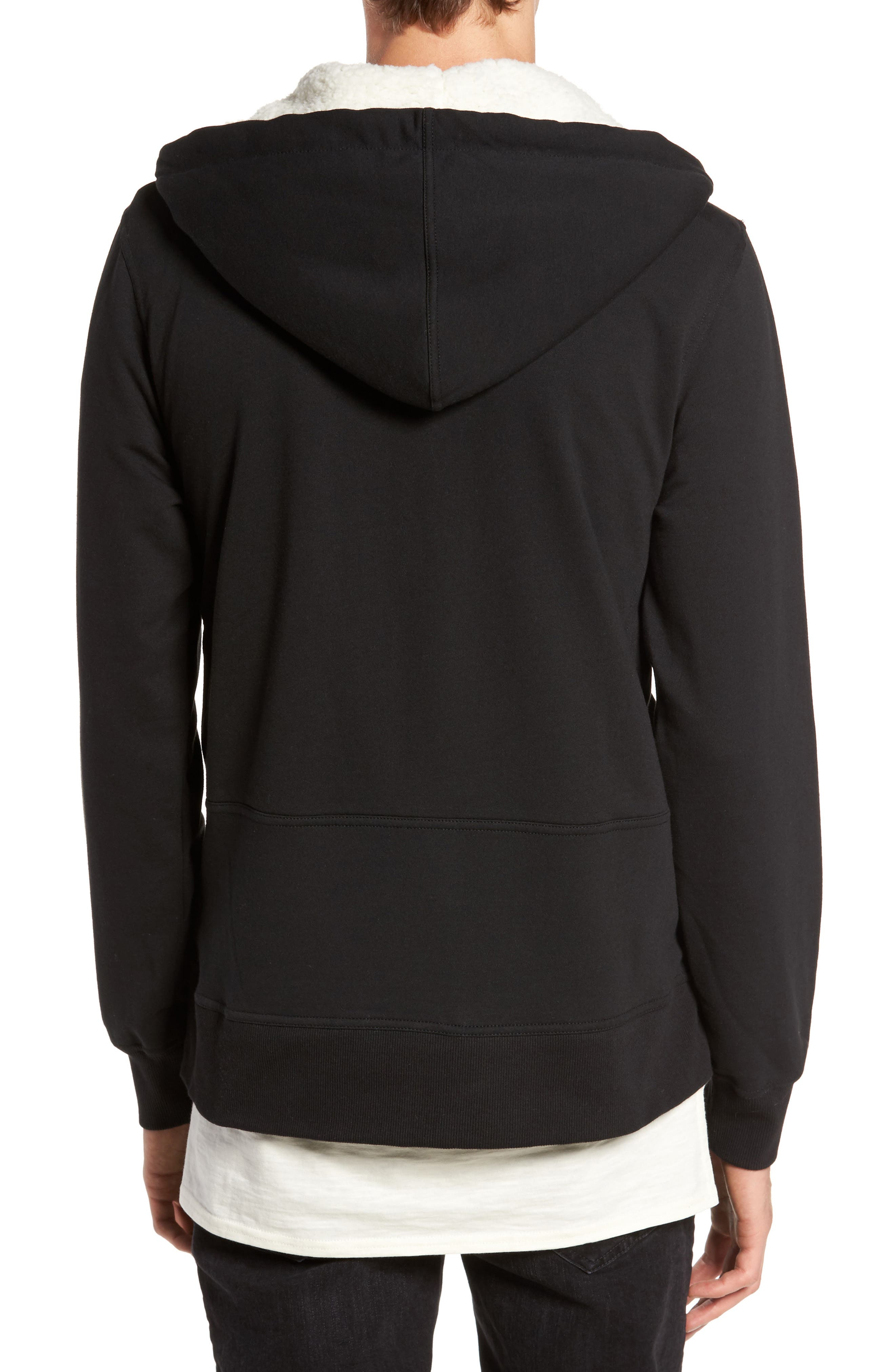 Fleece Lined Hoodie,                             Alternate thumbnail 2, color,                             001