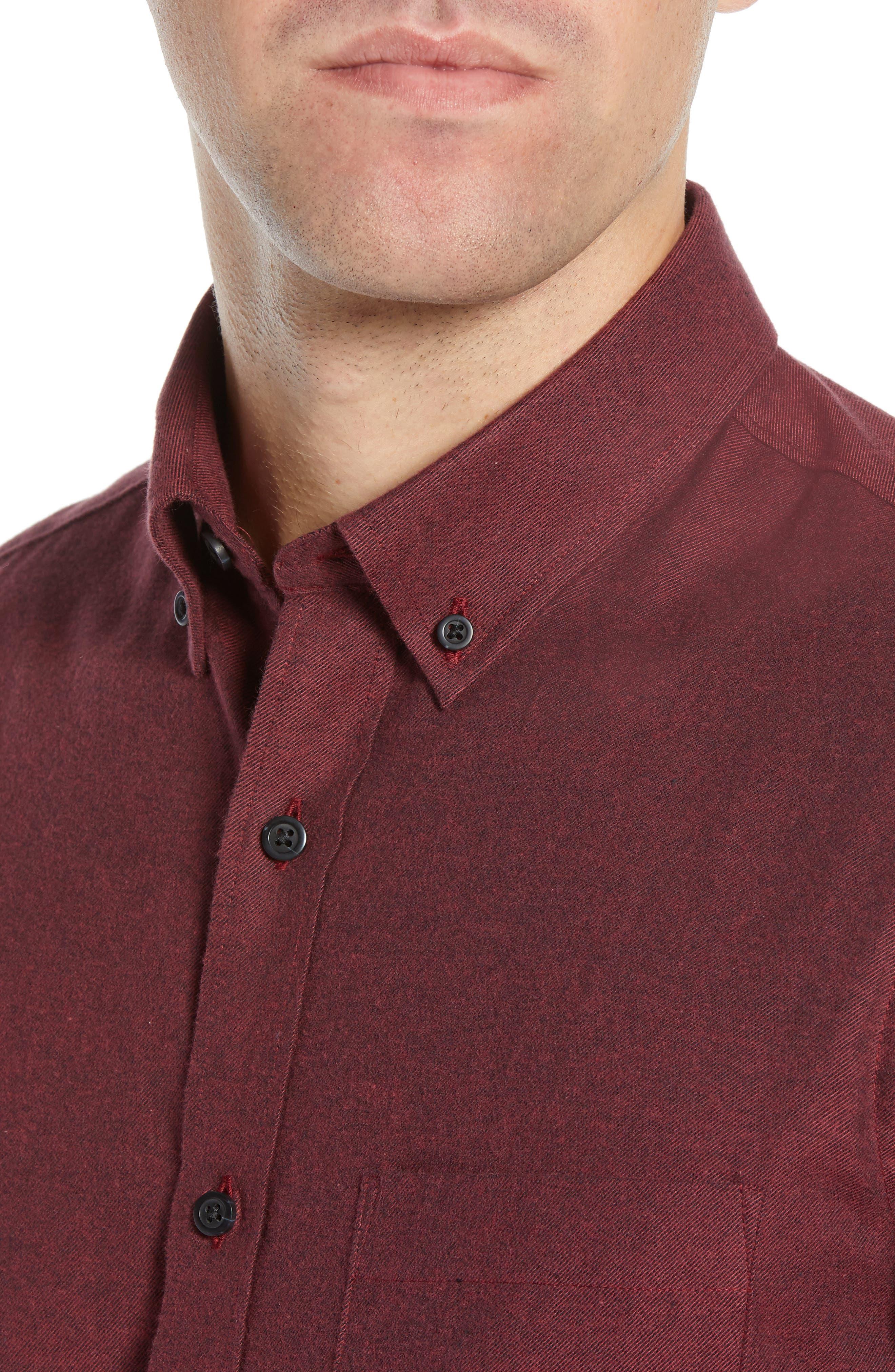 NORDSTROM MEN'S SHOP,                             Slim Fit Brushed Twill Sport Shirt,                             Alternate thumbnail 2, color,                             RED JESTER BRUSHED TWILL