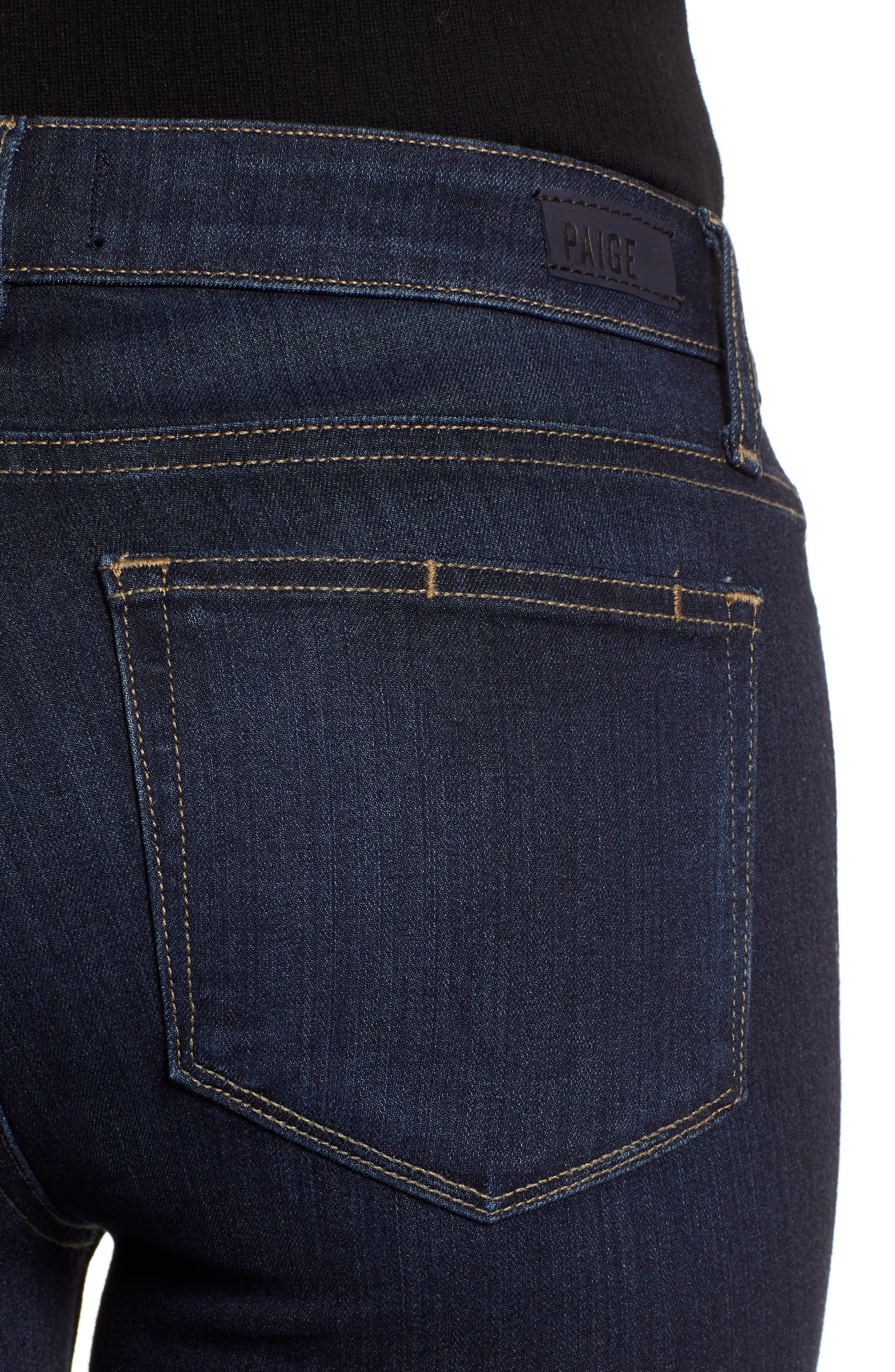 Transcend - Manhattan High Waist Bootcut Jeans,                             Alternate thumbnail 4, color,                             SANIA