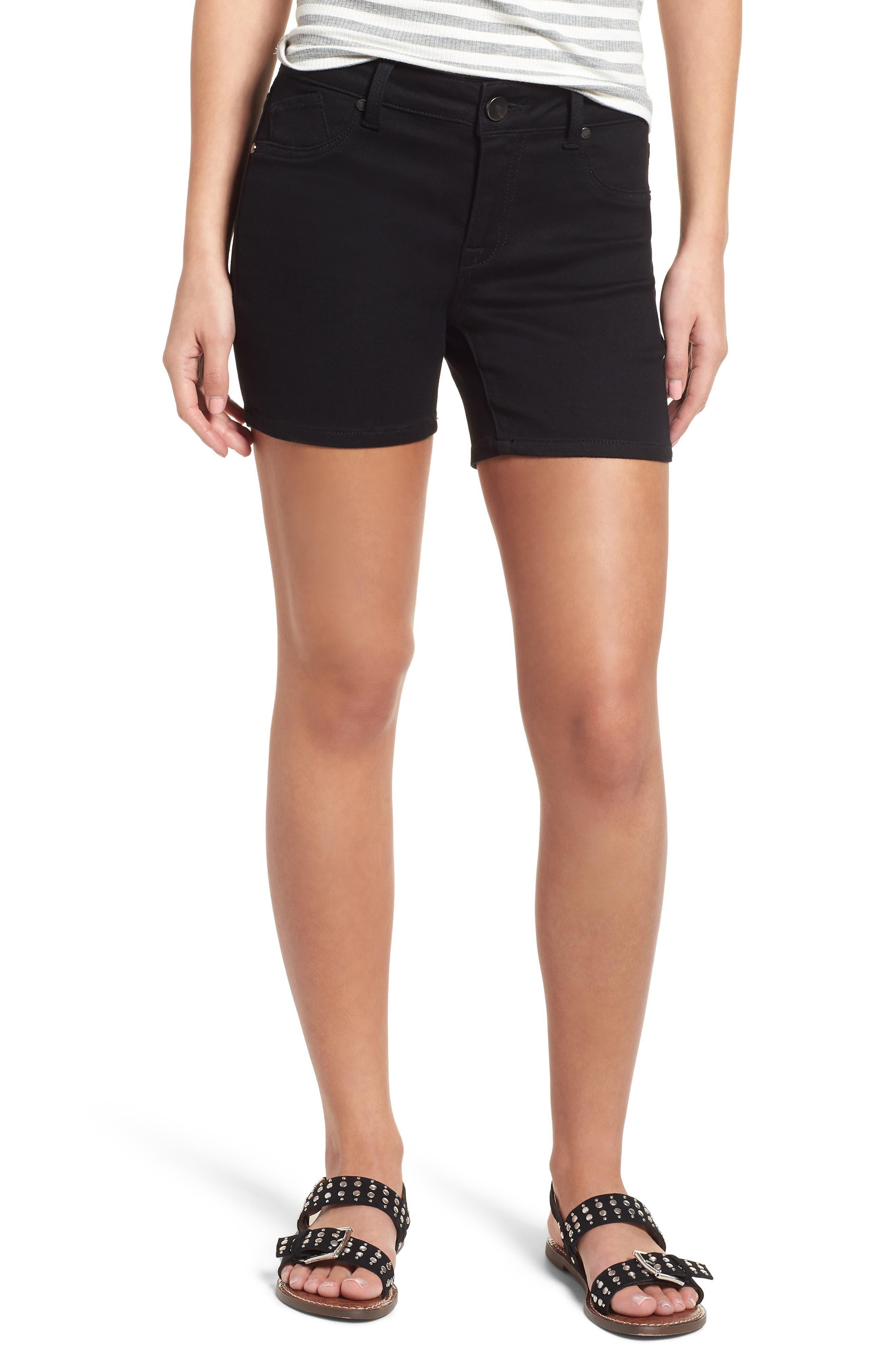 Butter Denim Shorts,                         Main,                         color, 001