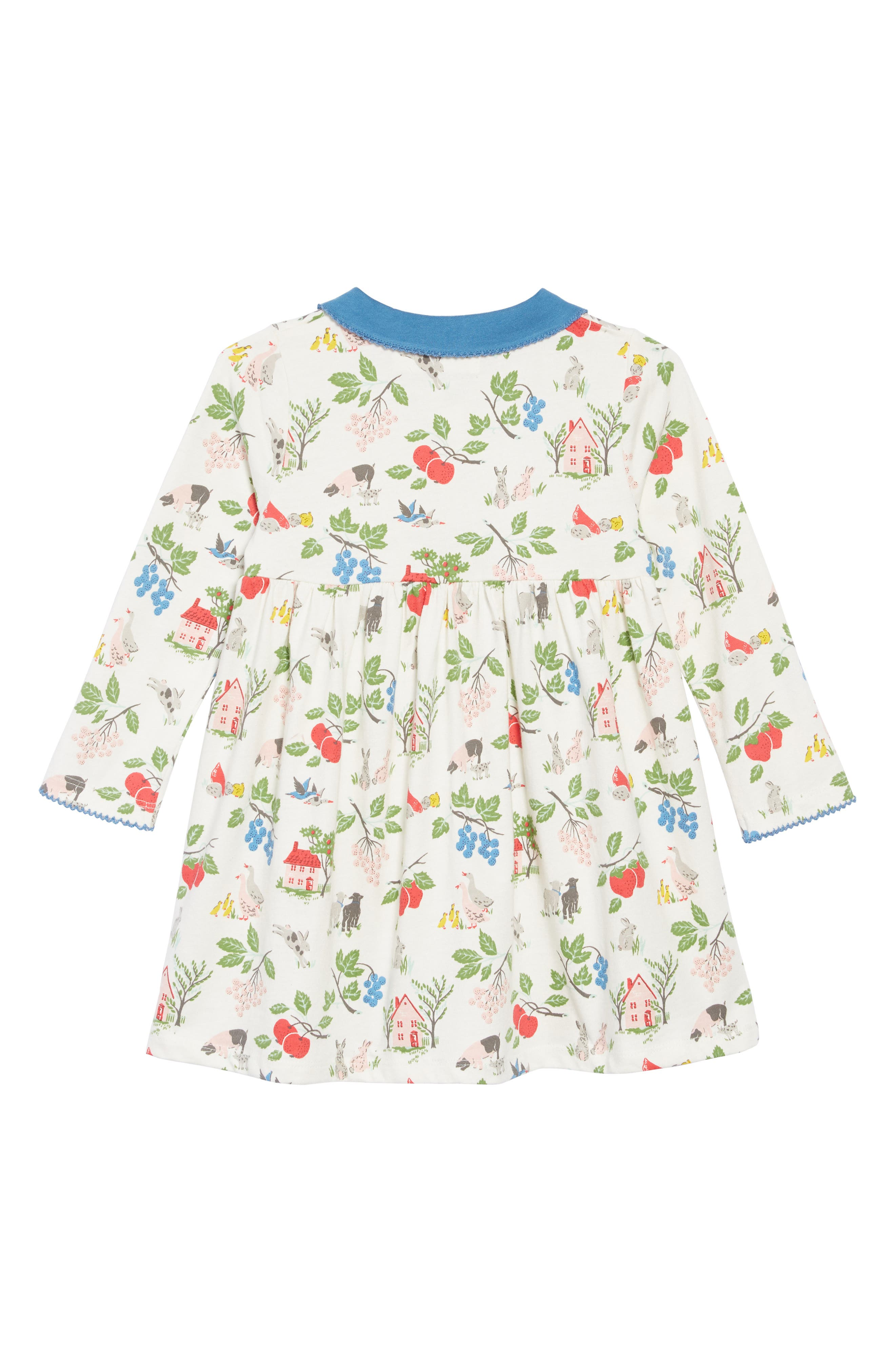 Pretty Collared Jersey Dress,                             Alternate thumbnail 2, color,                             FARMYARD  FRIENDS