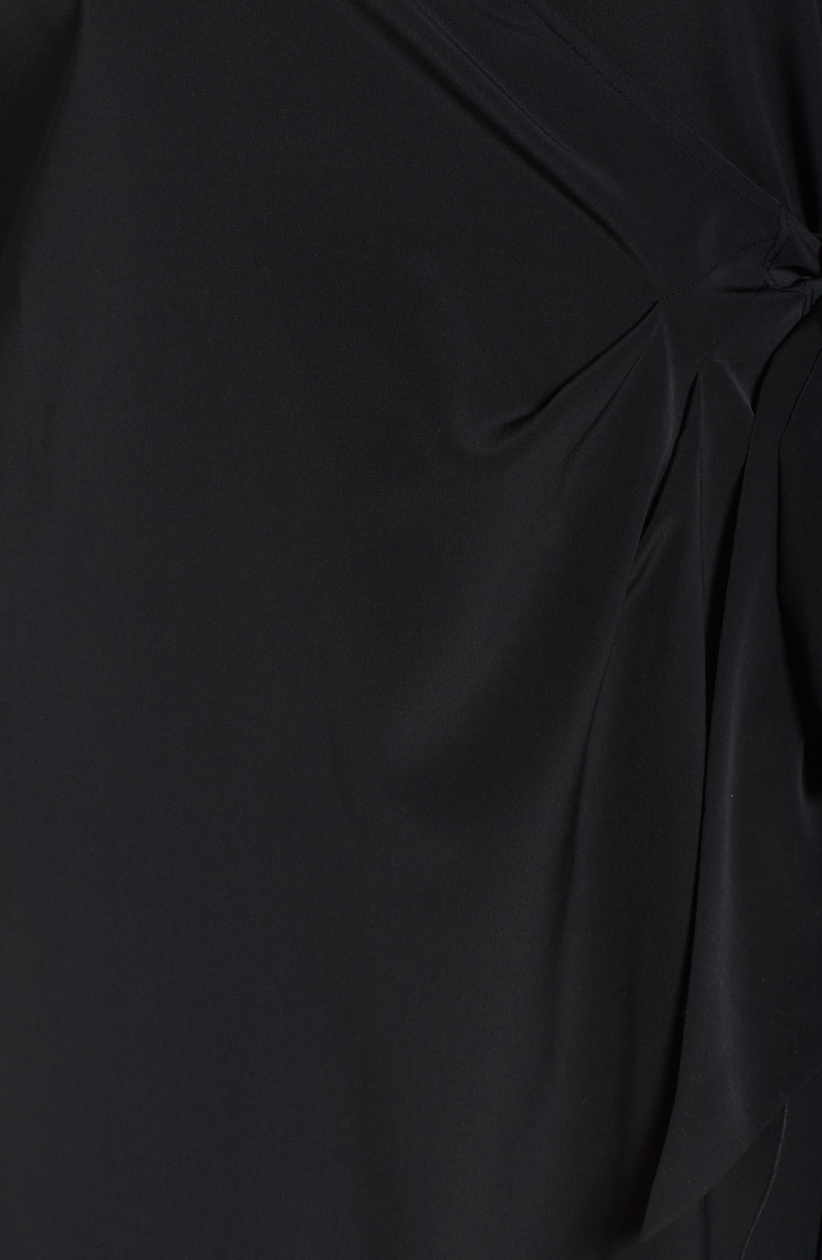 Wrap Dress,                             Alternate thumbnail 5, color,                             001