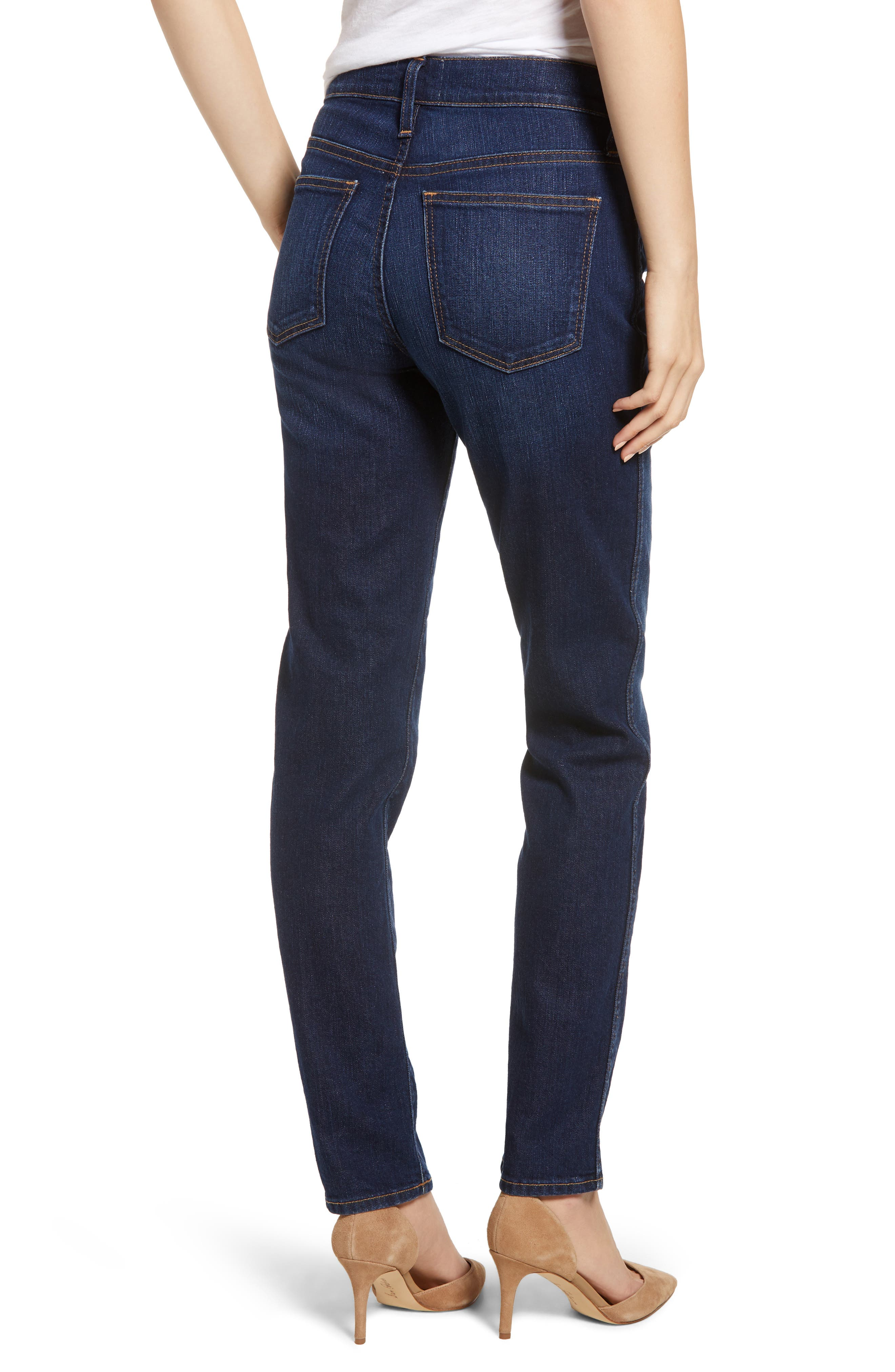Slim Straight Jeans,                             Alternate thumbnail 2, color,                             420
