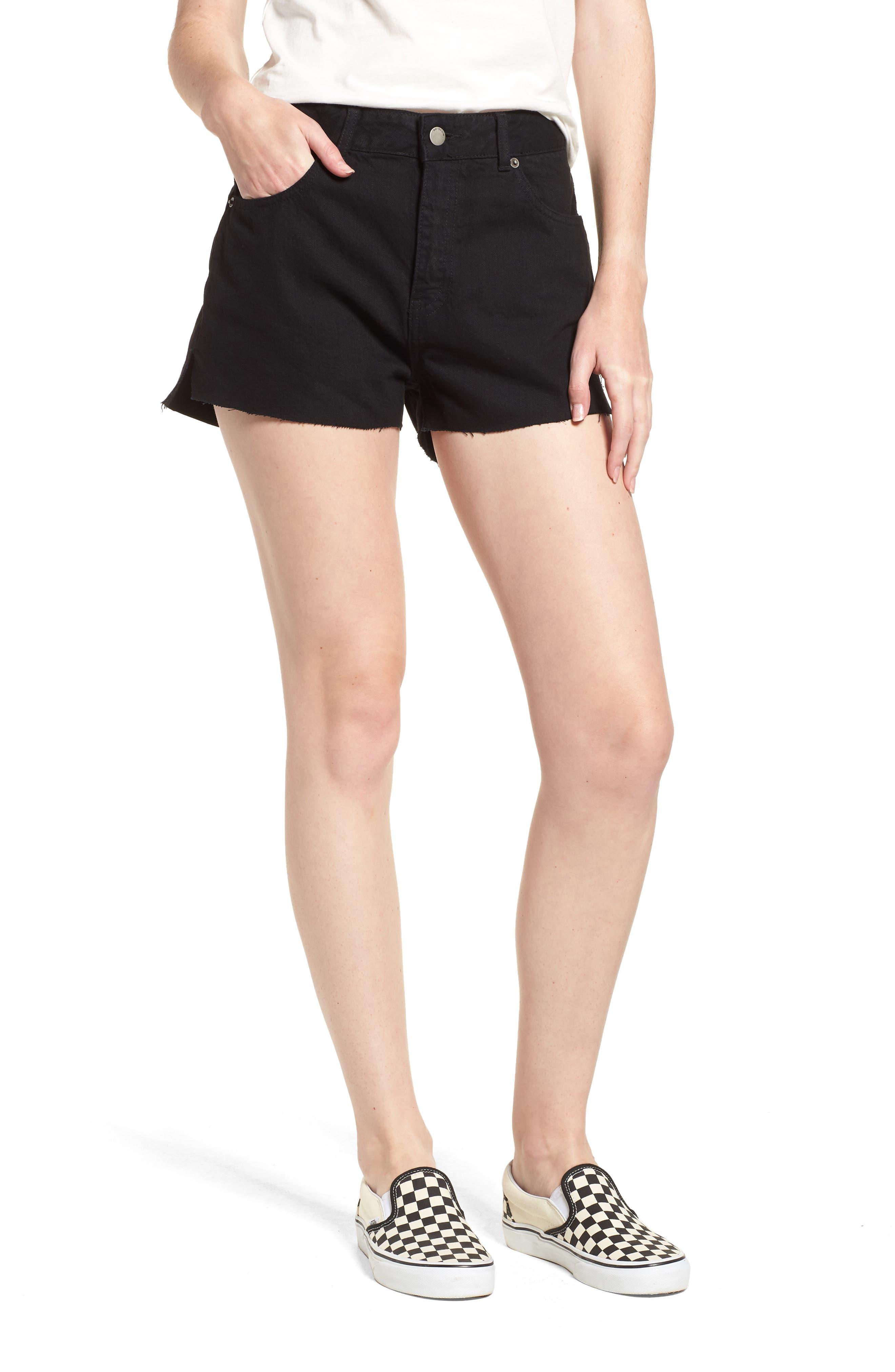 Vega Denim Shorts,                         Main,                         color, 001