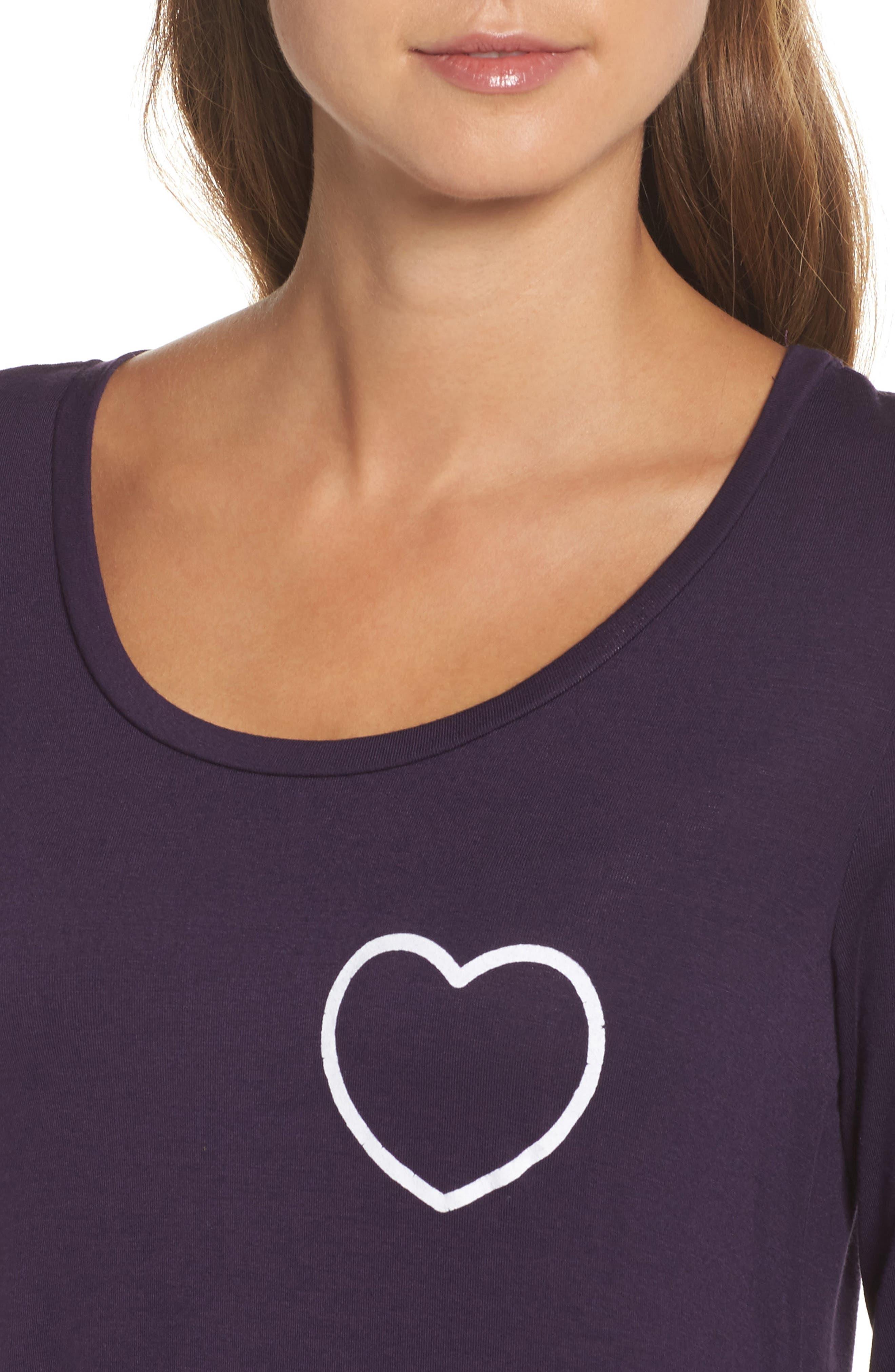Heart Sleep Shirt,                             Alternate thumbnail 4, color,                             503