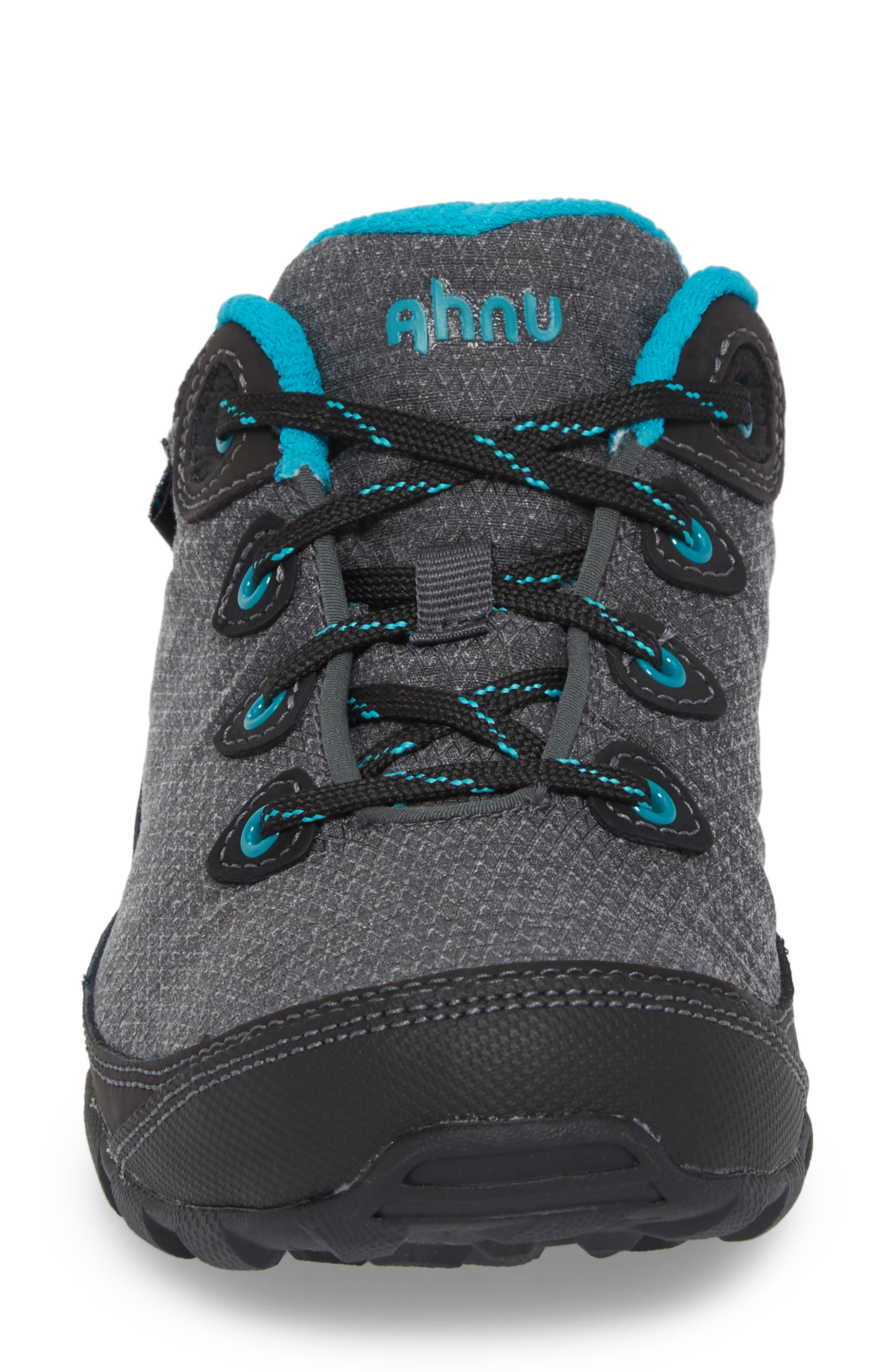 Ahnu by Teva Sugarpine II Waterproof Hiking Sneaker,                             Alternate thumbnail 4, color,                             BLACK