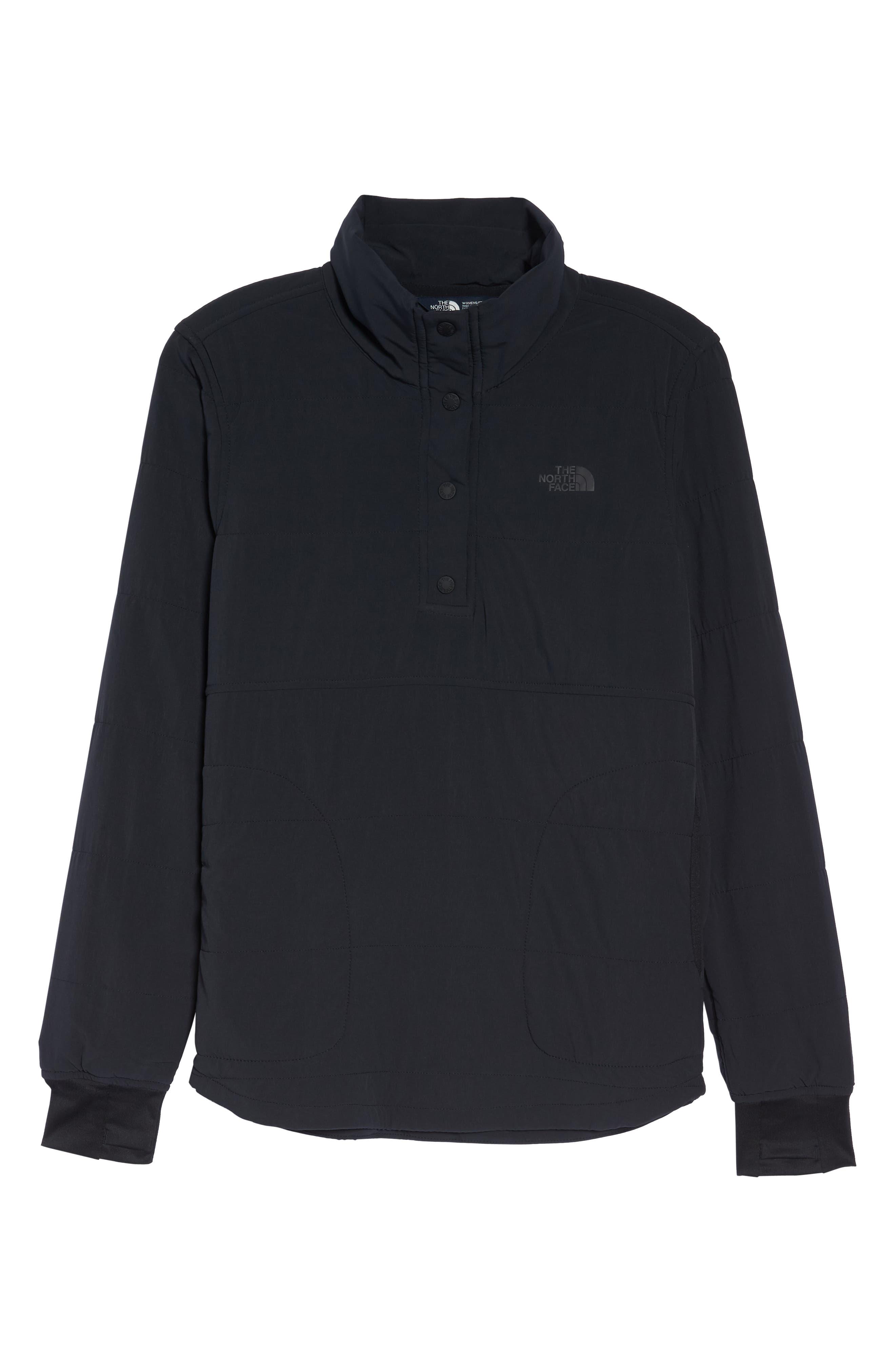 Mountain Snap Neck Sweatshirt,                             Alternate thumbnail 7, color,                             001