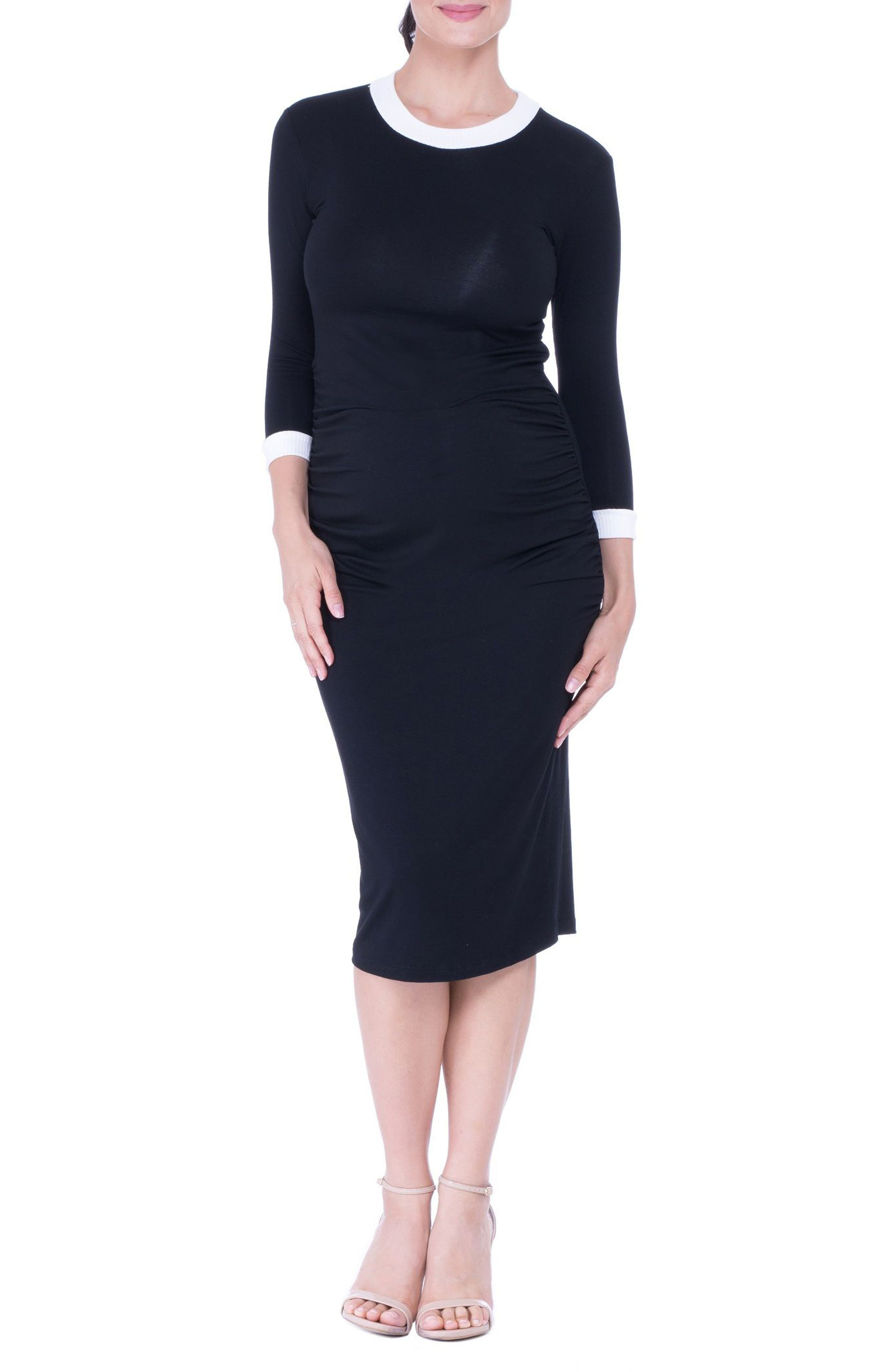 Maternity Midi Dress,                             Main thumbnail 1, color,