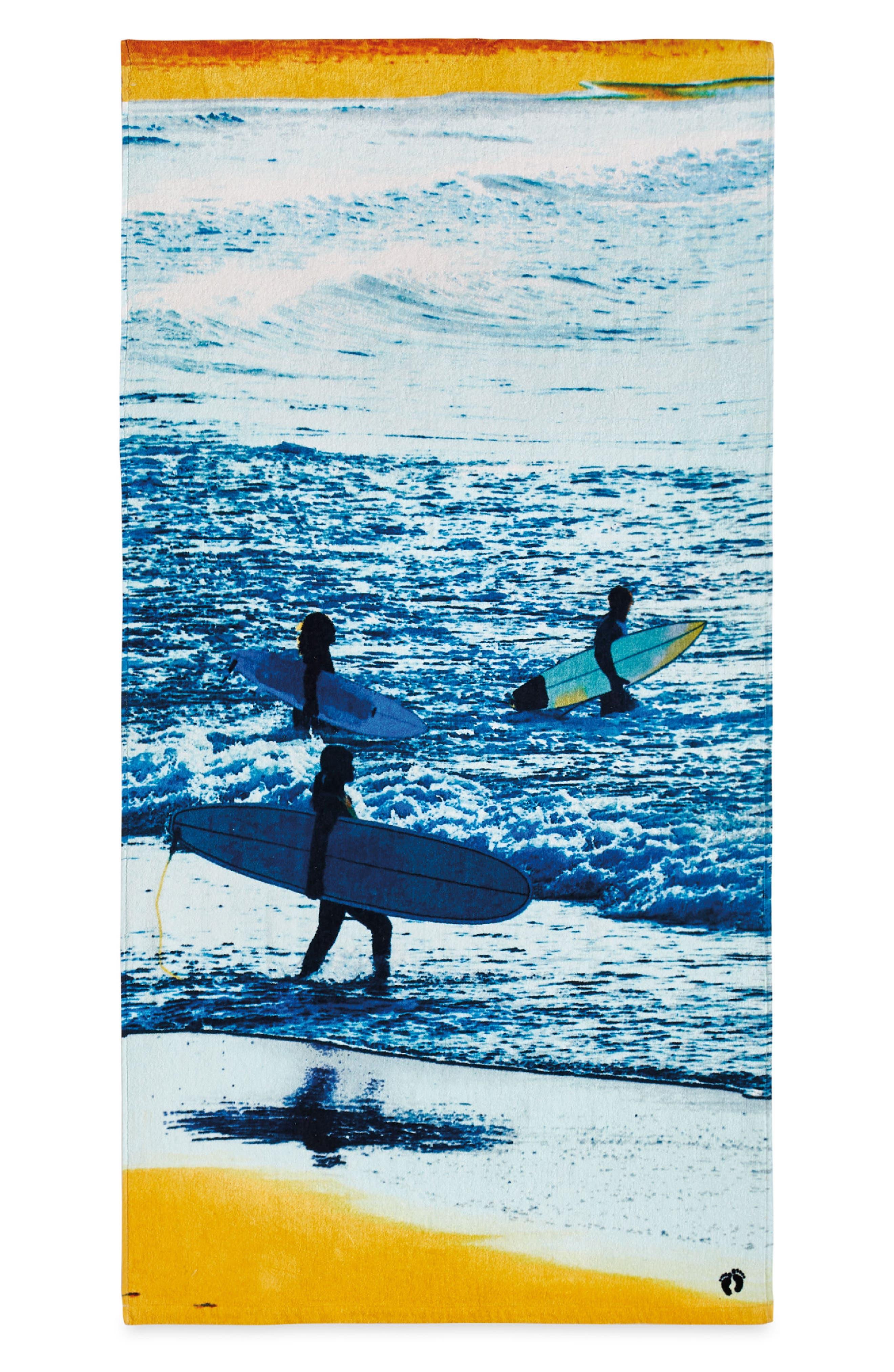 HANG TEN Surfer Beach Towel, Main, color, 400