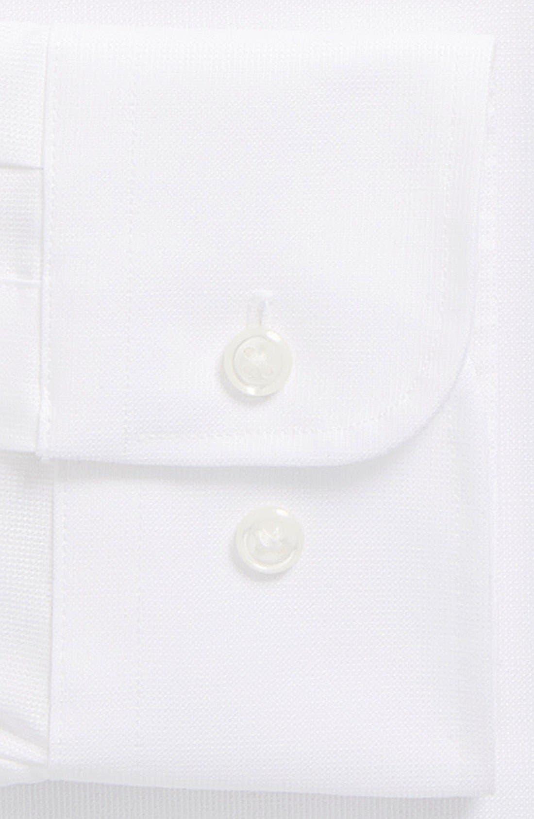 Nordstrom Trim Fit Non-Iron Dress Shirt,                             Alternate thumbnail 2, color,                             100