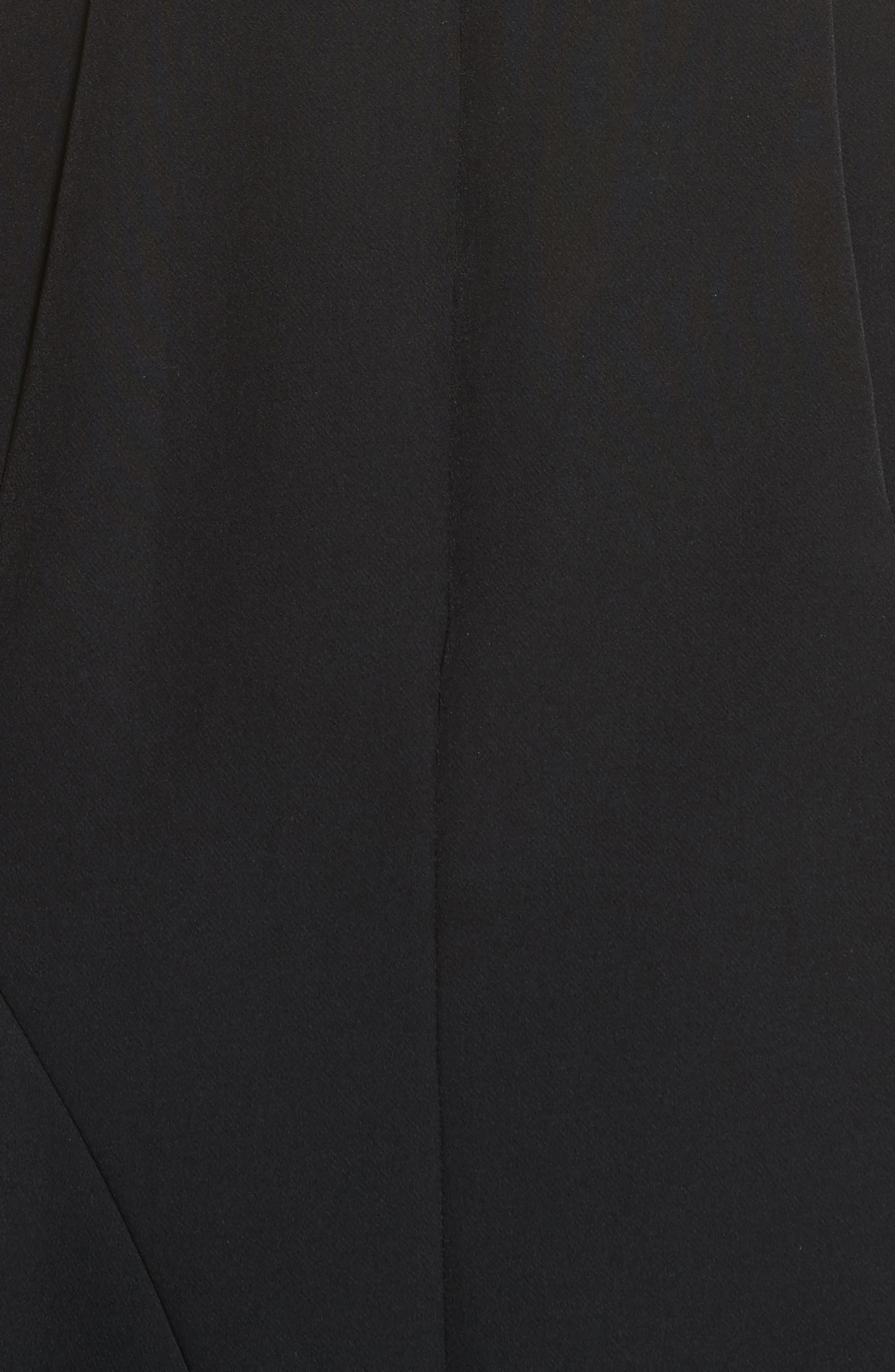 Asymmetrical Ruffle Stretch Cady Dress,                             Alternate thumbnail 5, color,                             001