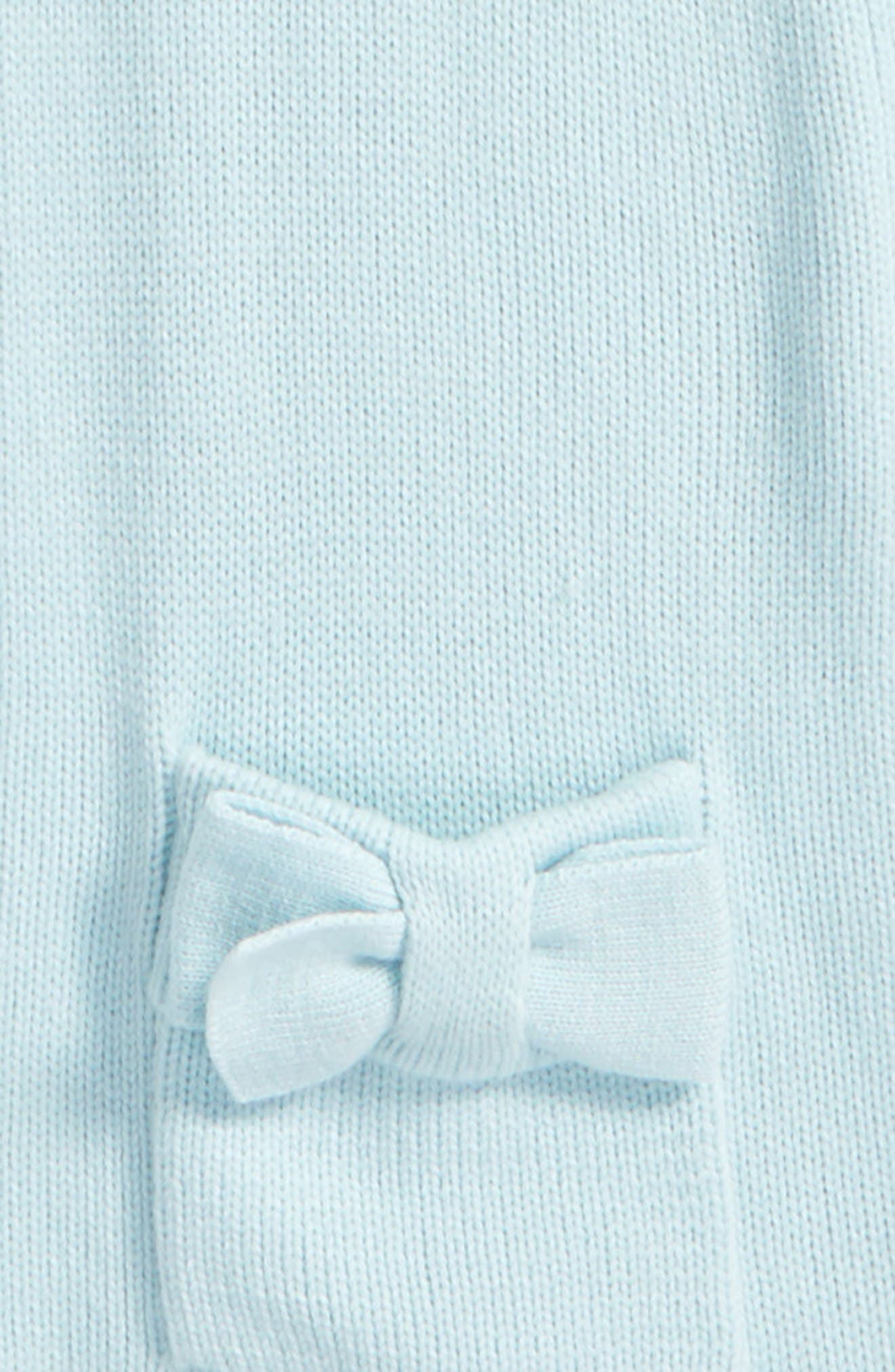 half bow muffler,                             Alternate thumbnail 4, color,                             ICY BLUE