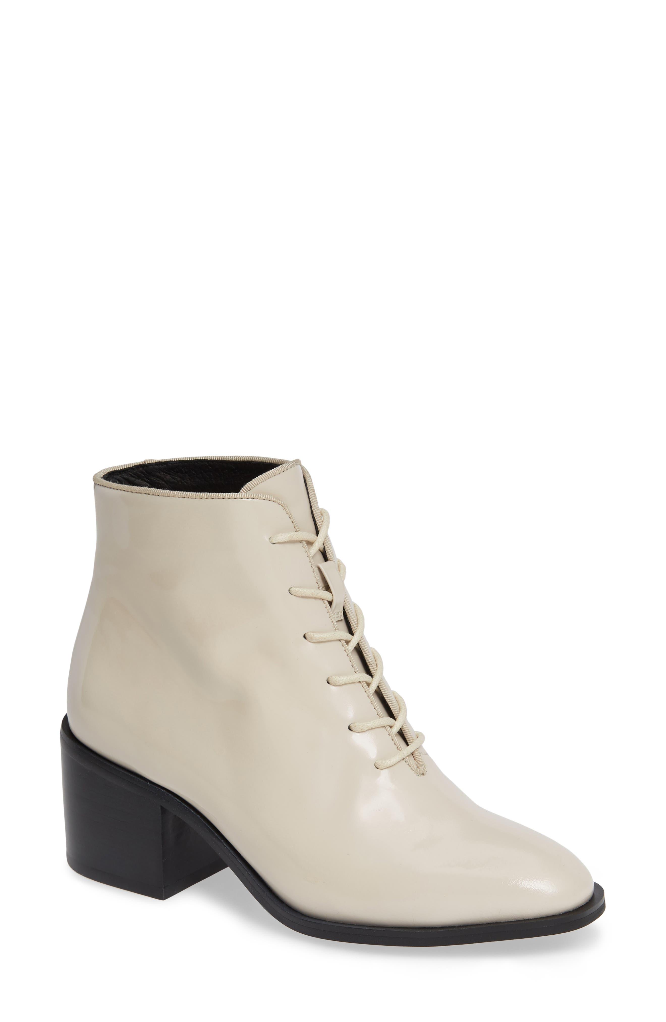 Talcott Block Heel Bootie,                         Main,                         color, IVORY BOX