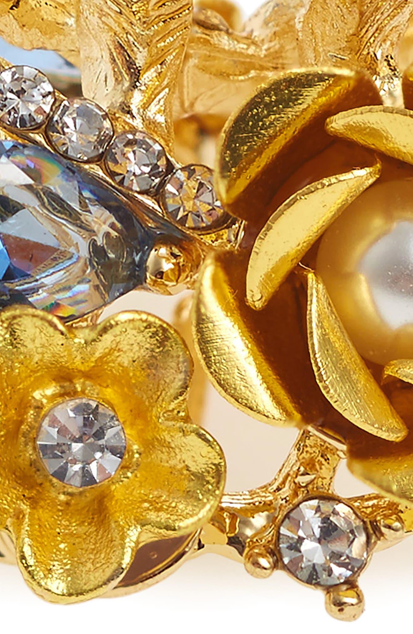 Crystal & Imitation Pearl Jaw Clip,                             Alternate thumbnail 3, color,