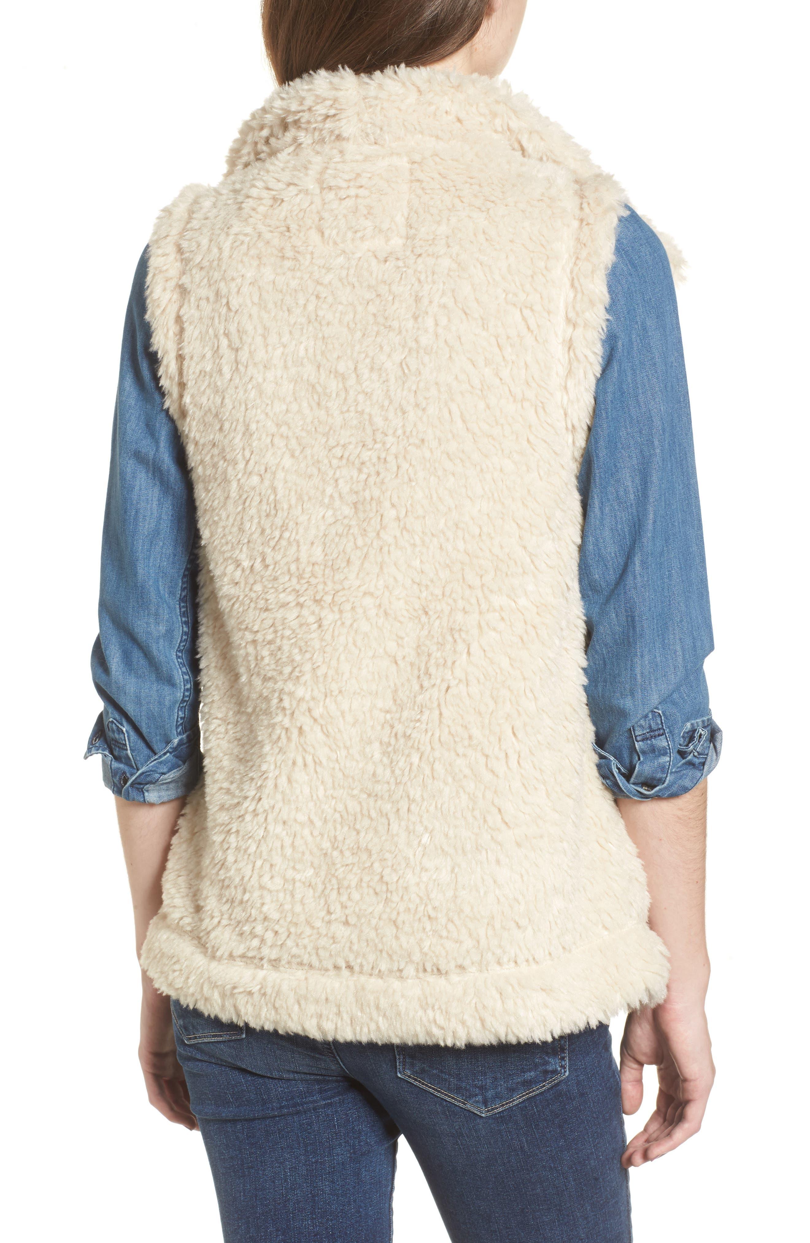 Cozy Faux Shearling Vest,                             Alternate thumbnail 2, color,