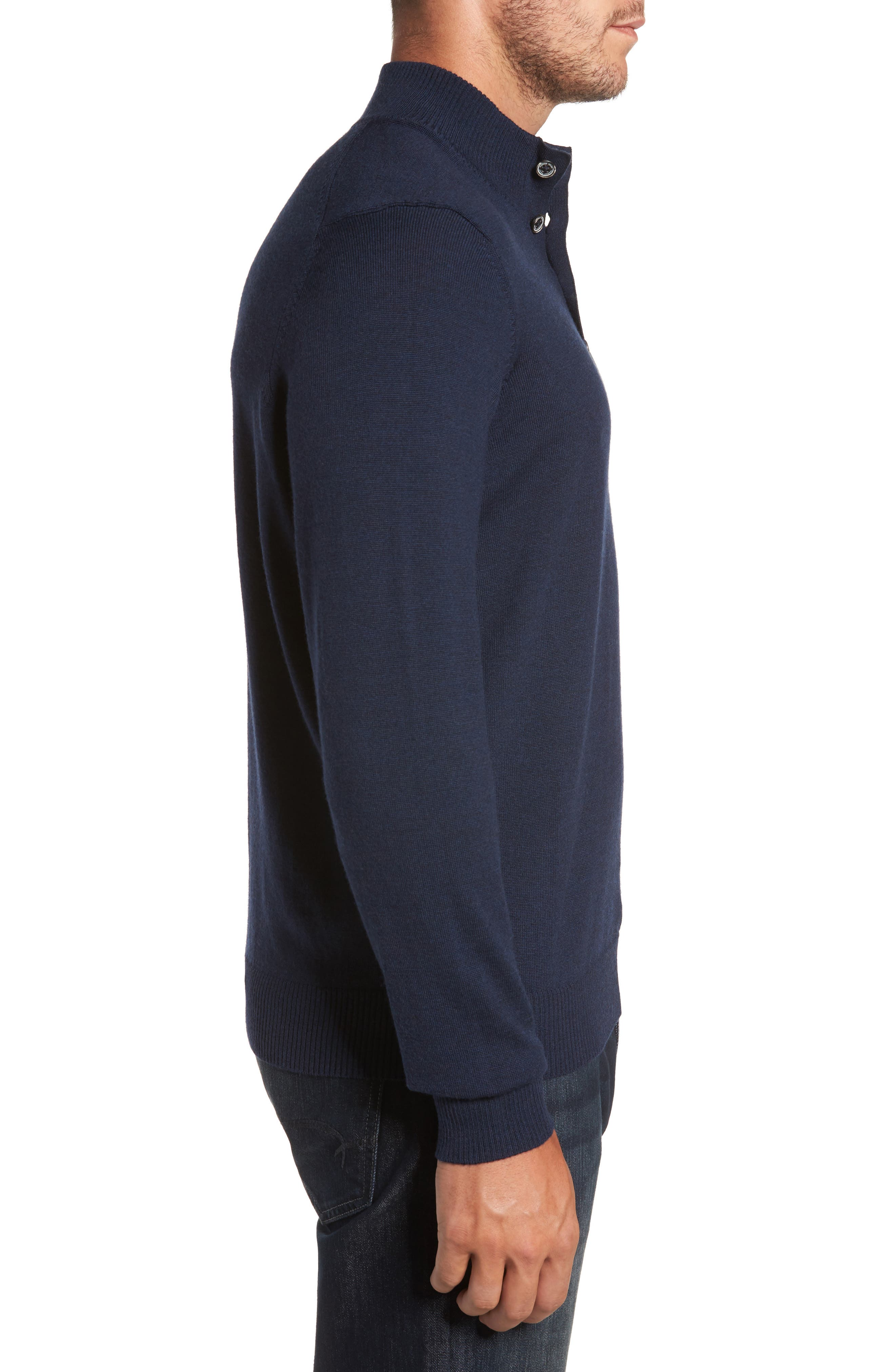 Merino Wool Blend Mock Neck Sweater,                             Alternate thumbnail 9, color,